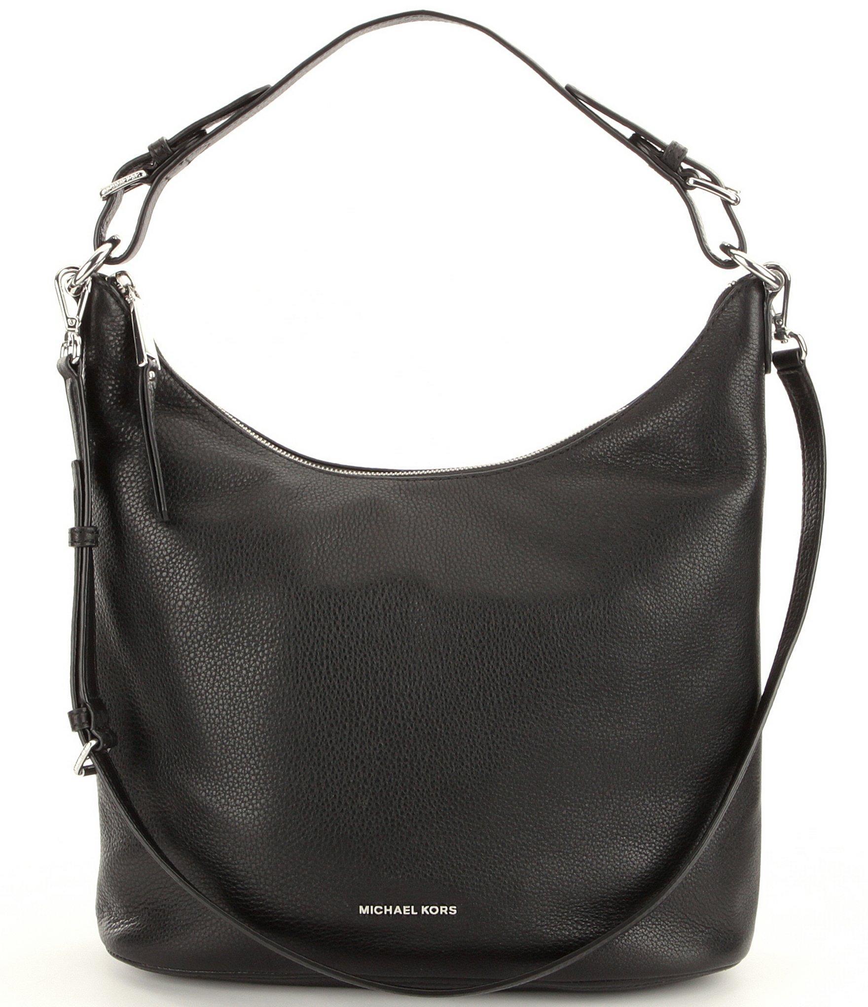 Michael michael kors Lupita Large Hobo Bag in Black | Lyst