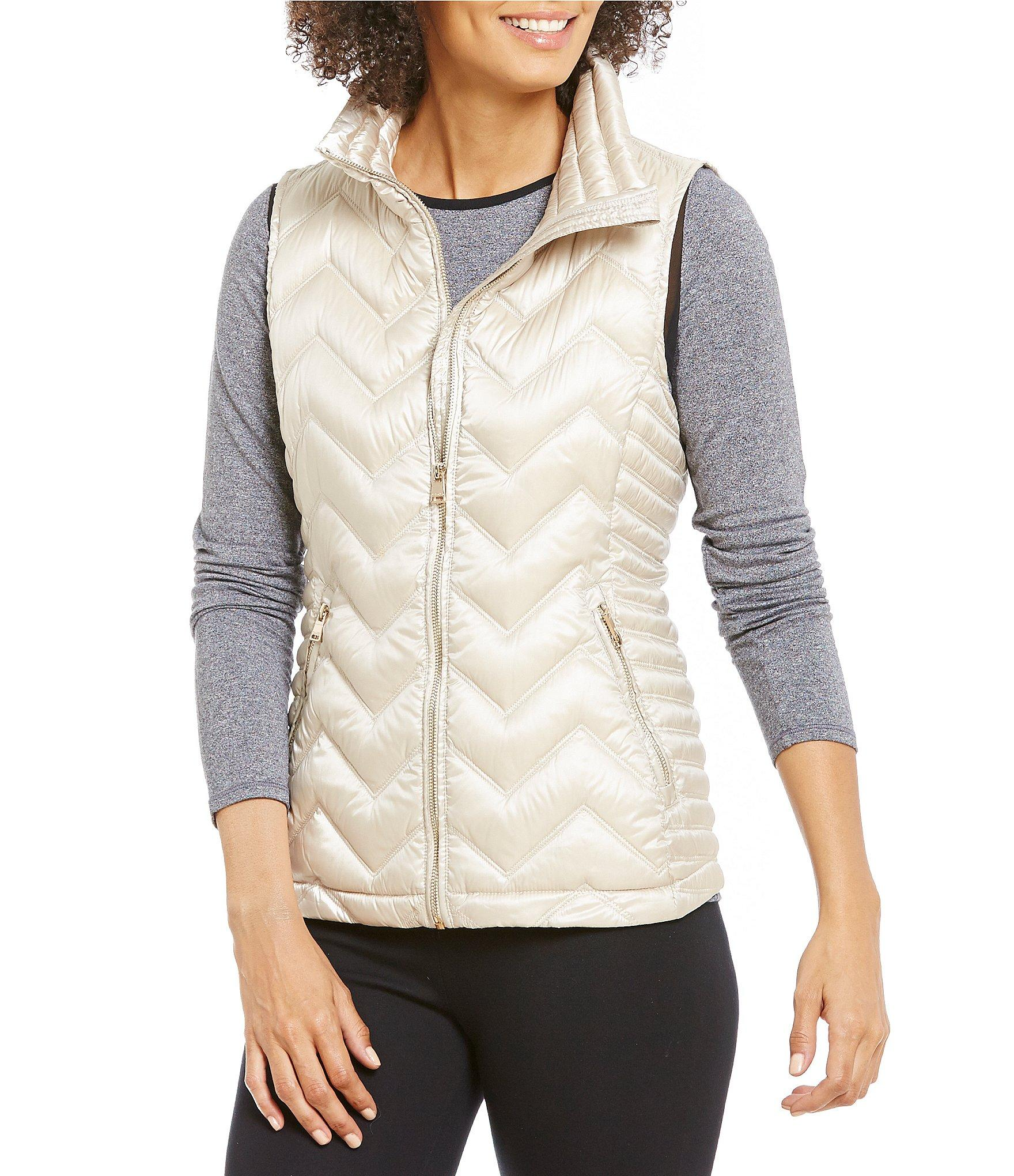 Calvin Klein Performance Chevron Quilted Down Filled Mock