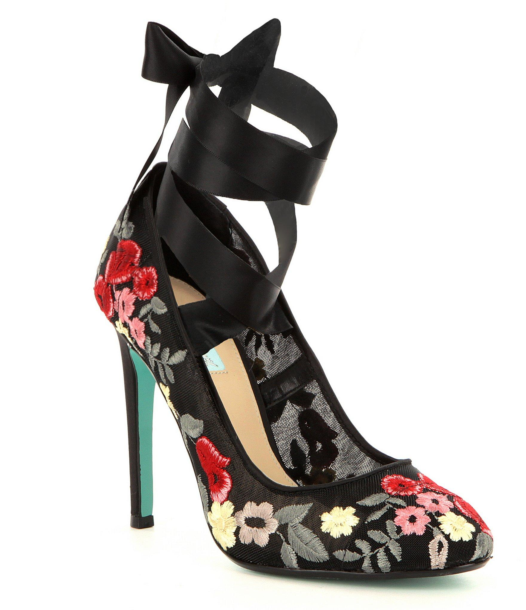 Lyst Betsey Johnson Blue By Jules Mesh Upper Floral