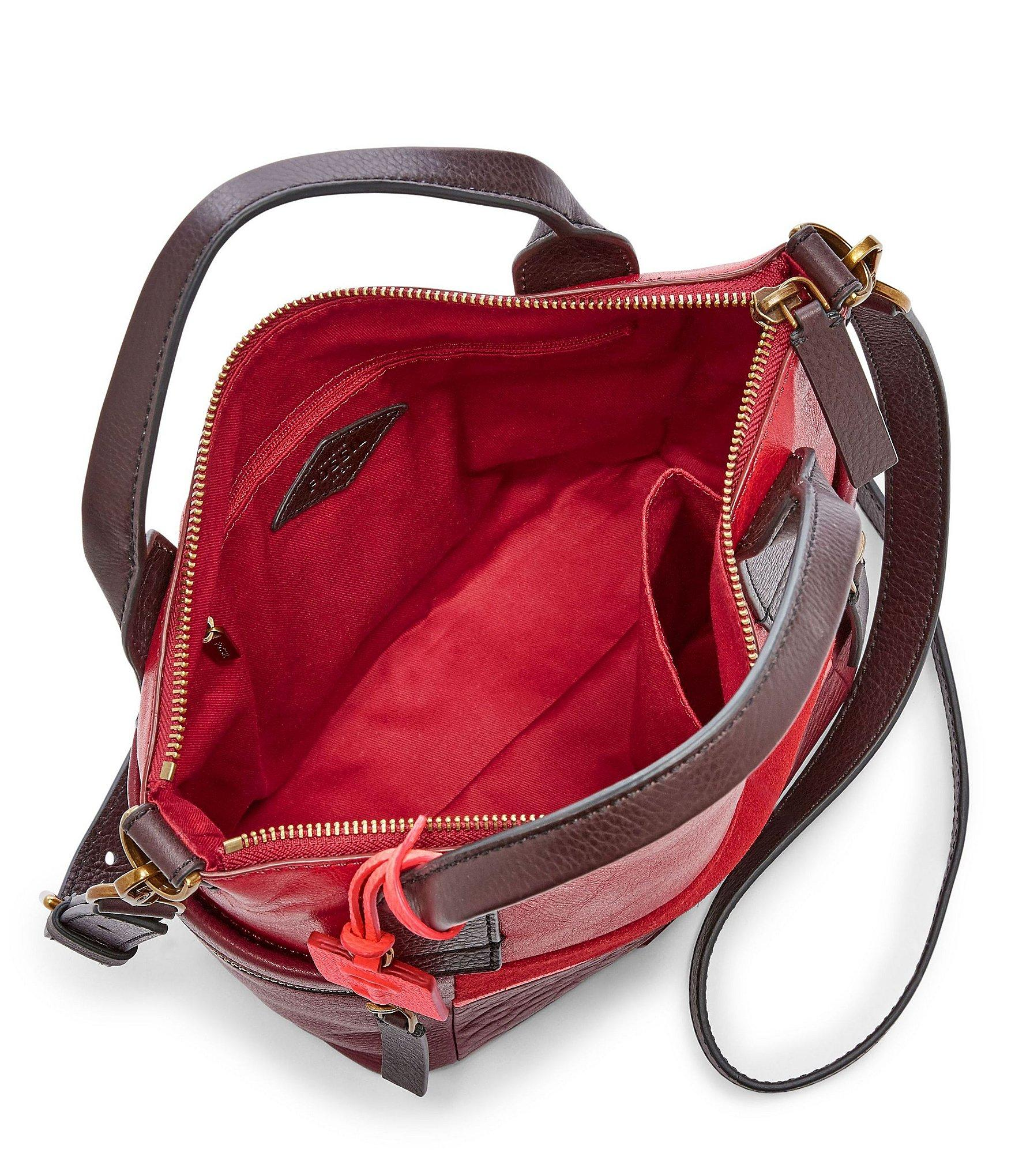 ac4b3ae0af Lyst - Fossil Emerson Patchwork Medium Satchel in Red