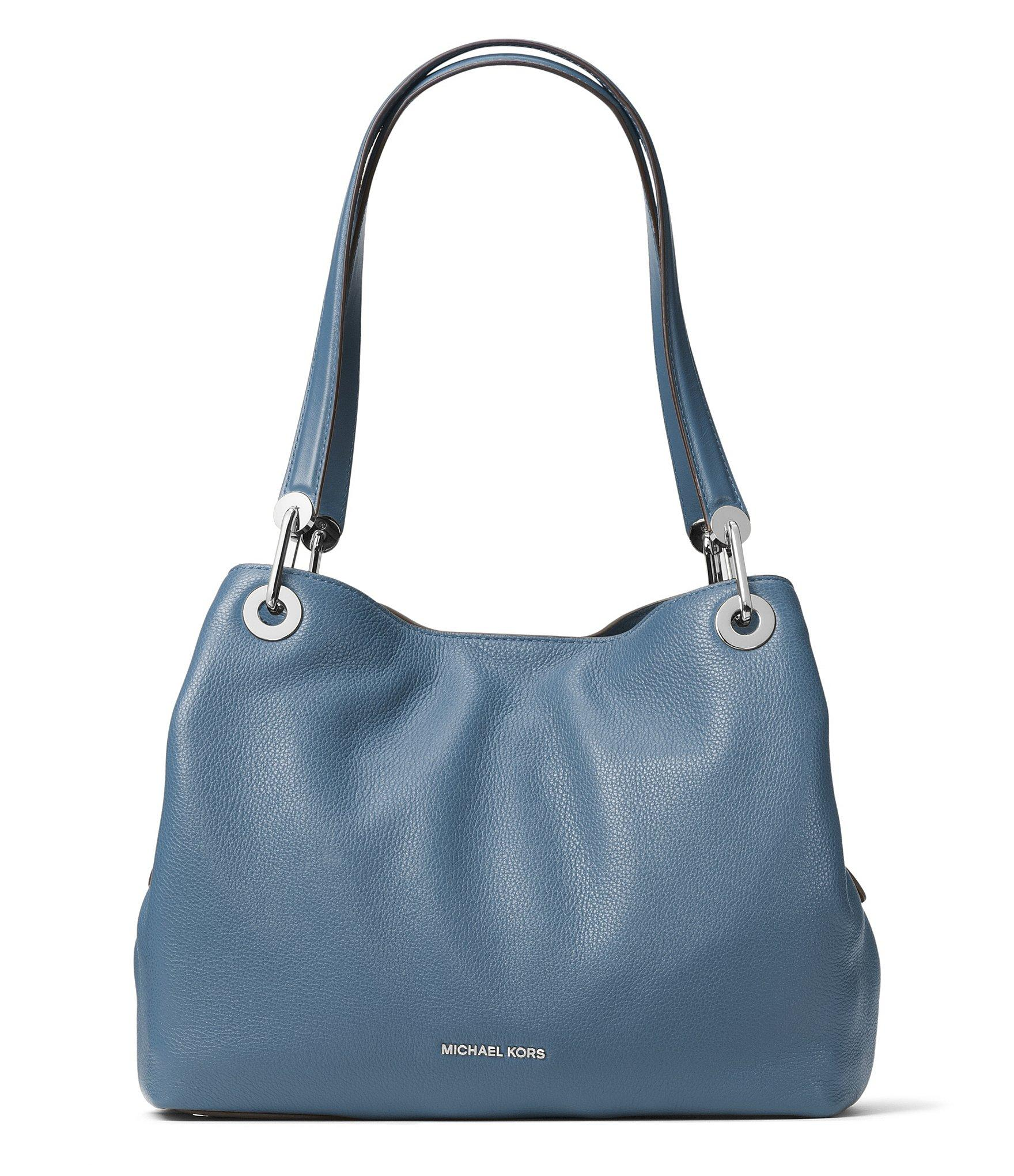 515ae91ee55e MICHAEL Michael Kors Raven Large Shoulder Tote in Blue - Lyst