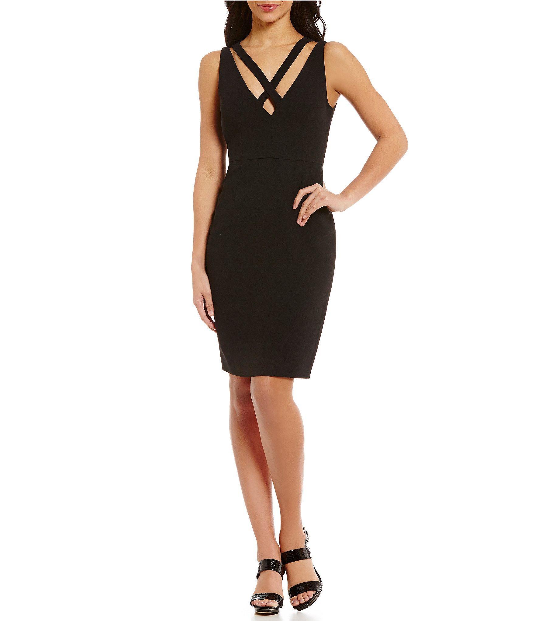 Calvin Klein Valoma Python Print Leather Slingback Dress