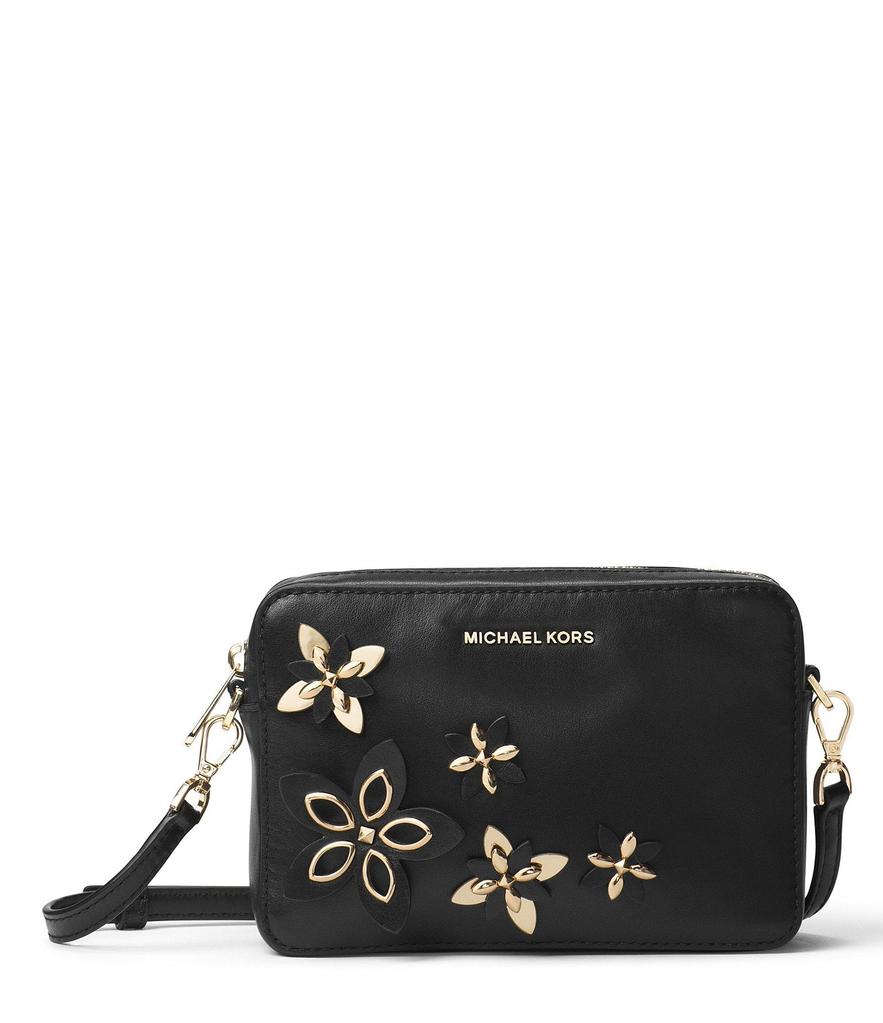 Michael Michael Kors Flower-appliquu00e9d Camera Cross-body Bag In Black | Lyst