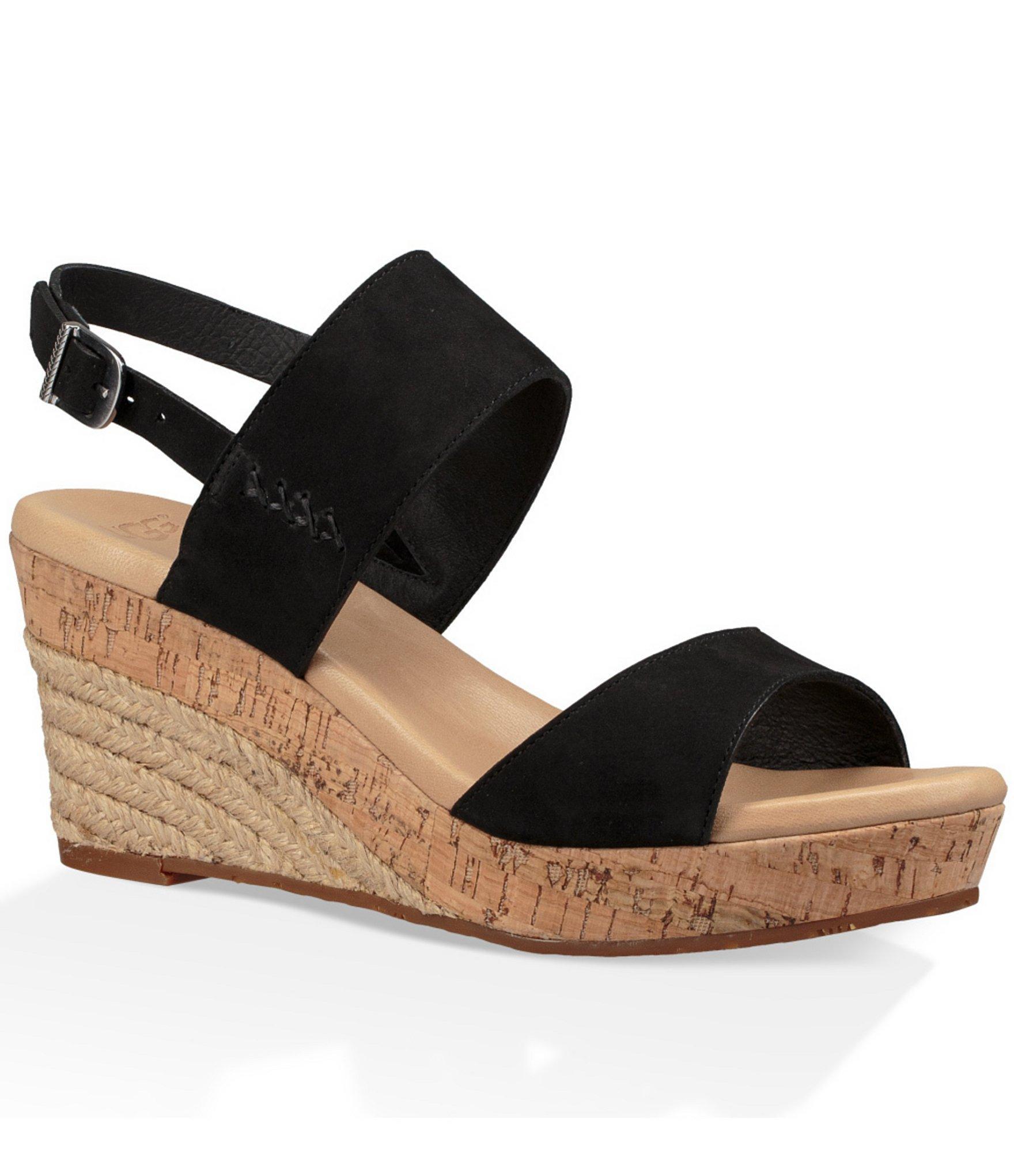 Lyst Ugg 174 Elena Espadrille Wedge Sandals In Black