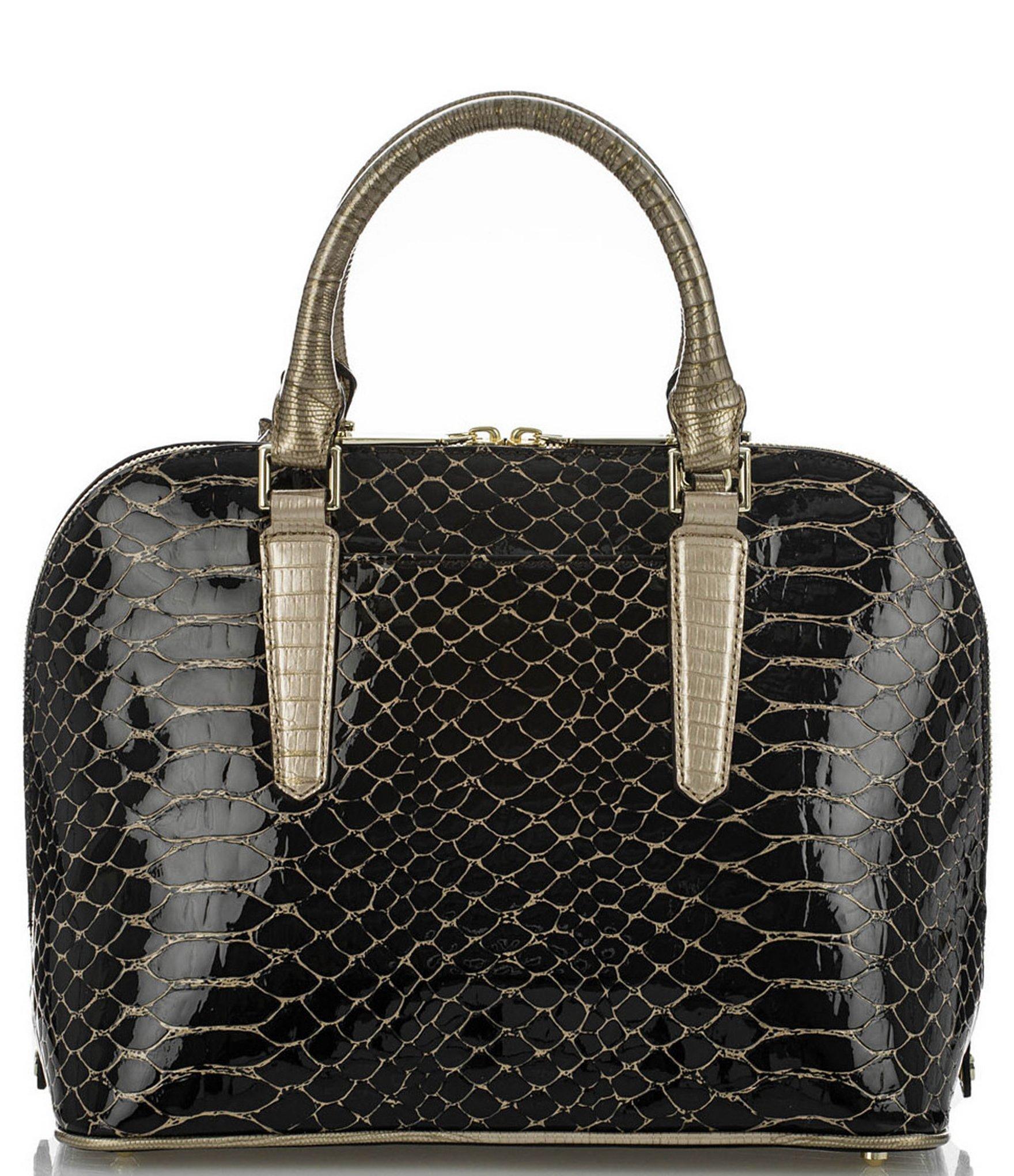 e80b3089837 Lyst - Brahmin Matsue Collection Vivian Top-zip Satchel in Brown