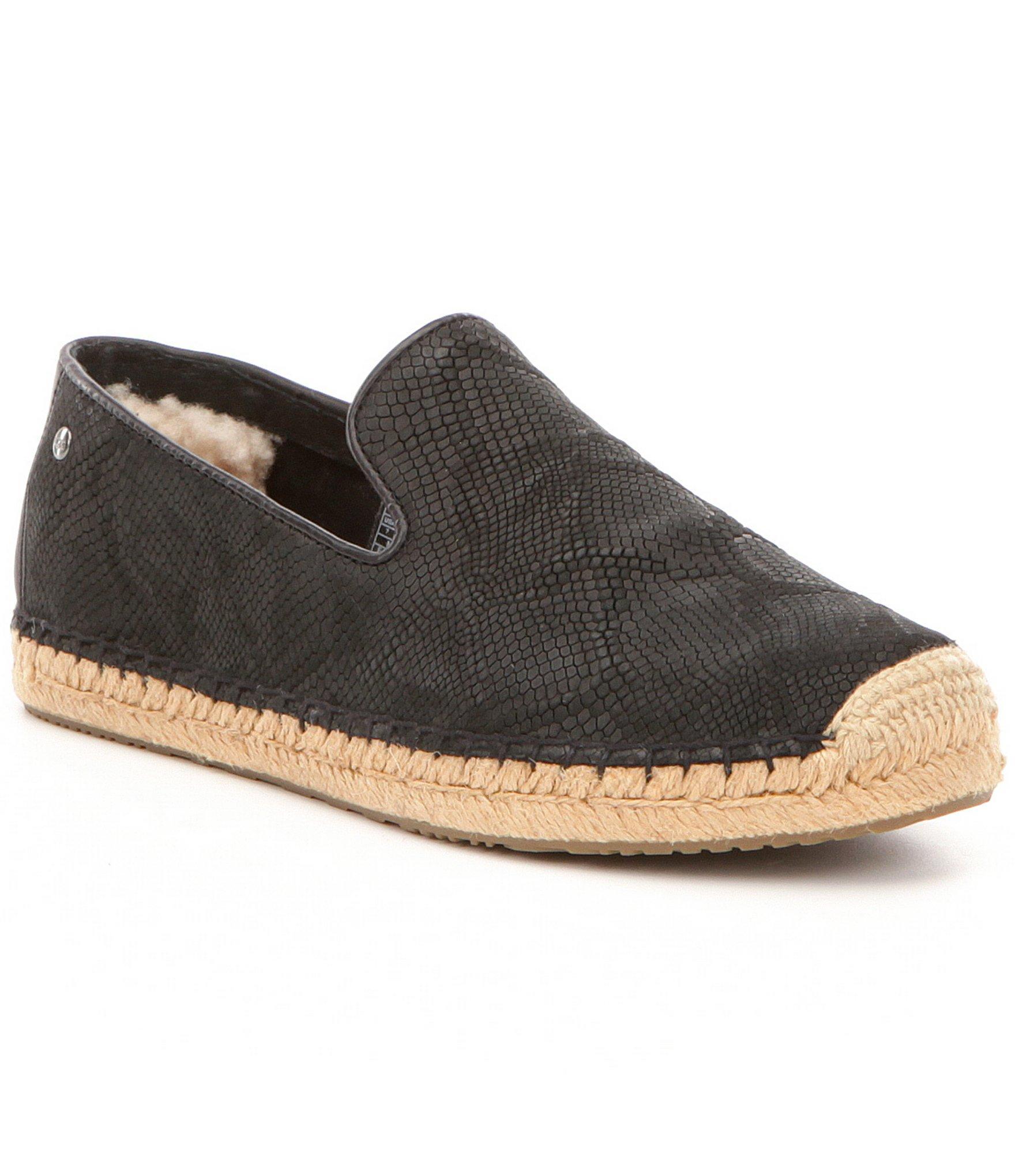 Sandrinne Ii Snake Black Espadrille Sandals By UGG Australia NdNvv8K3