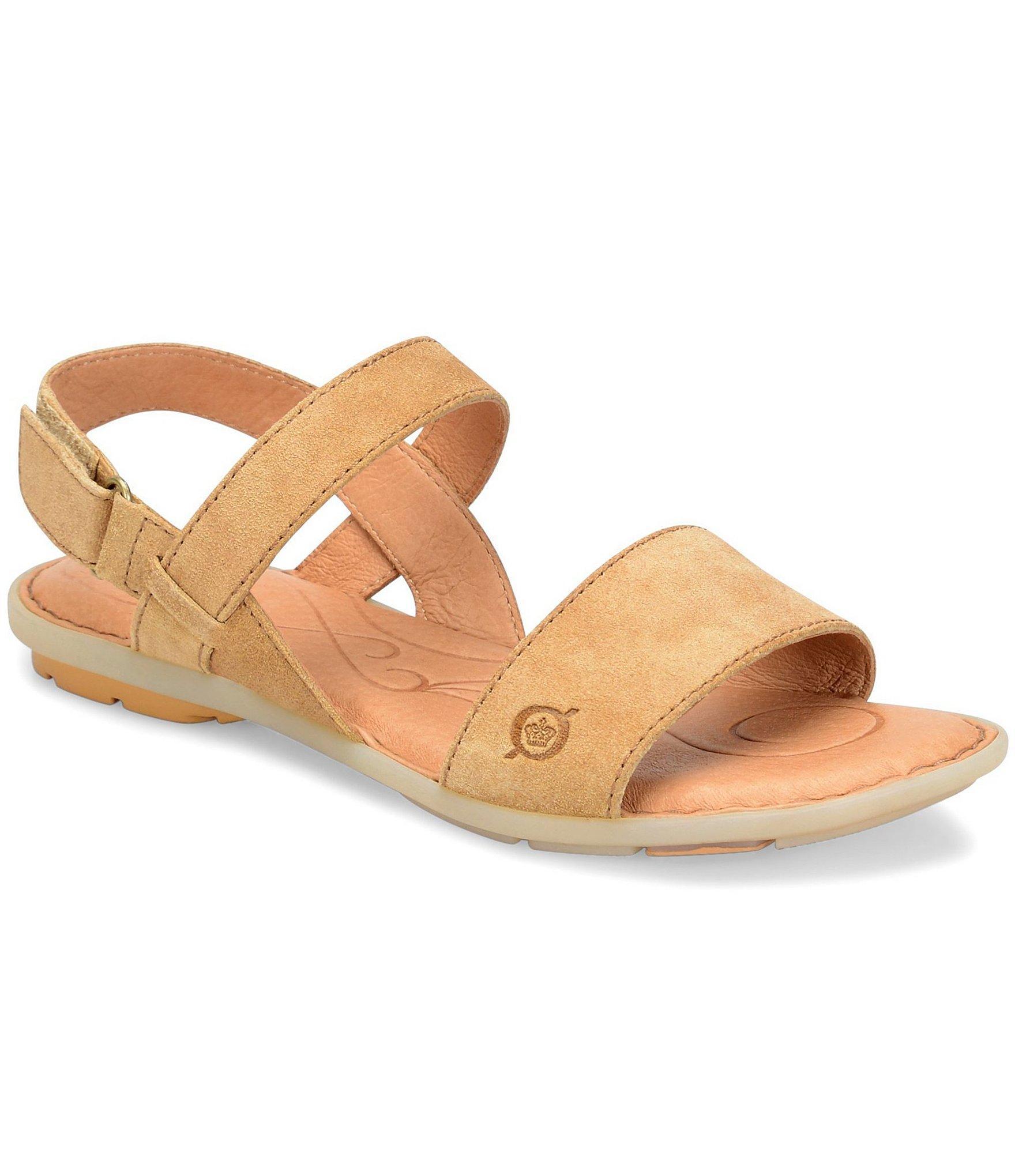 f8b95e27338a Lyst - Born Tagum Distressed Leather Sandals