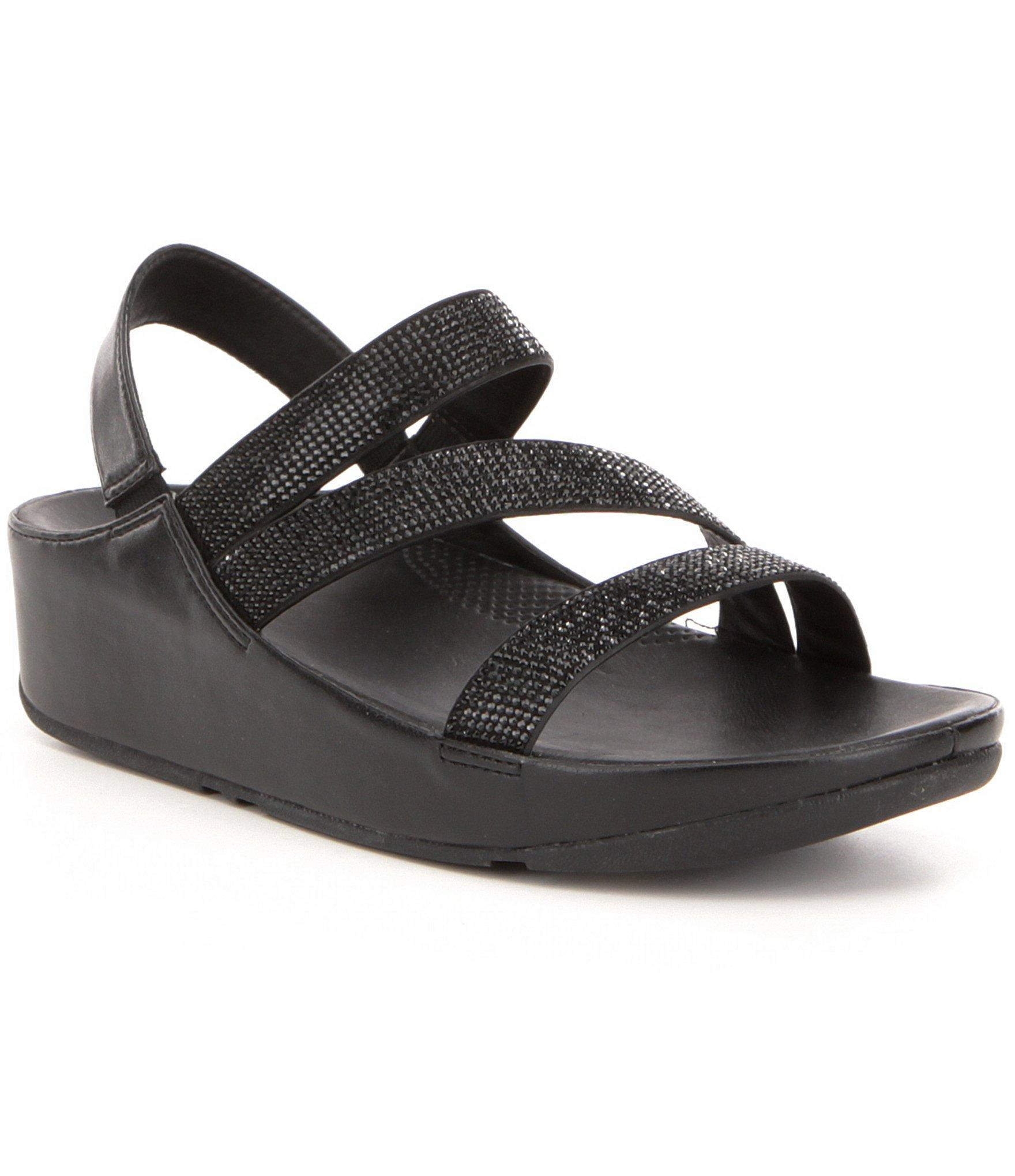 Fitflop Crystal Z Strap Sandals In Black Lyst