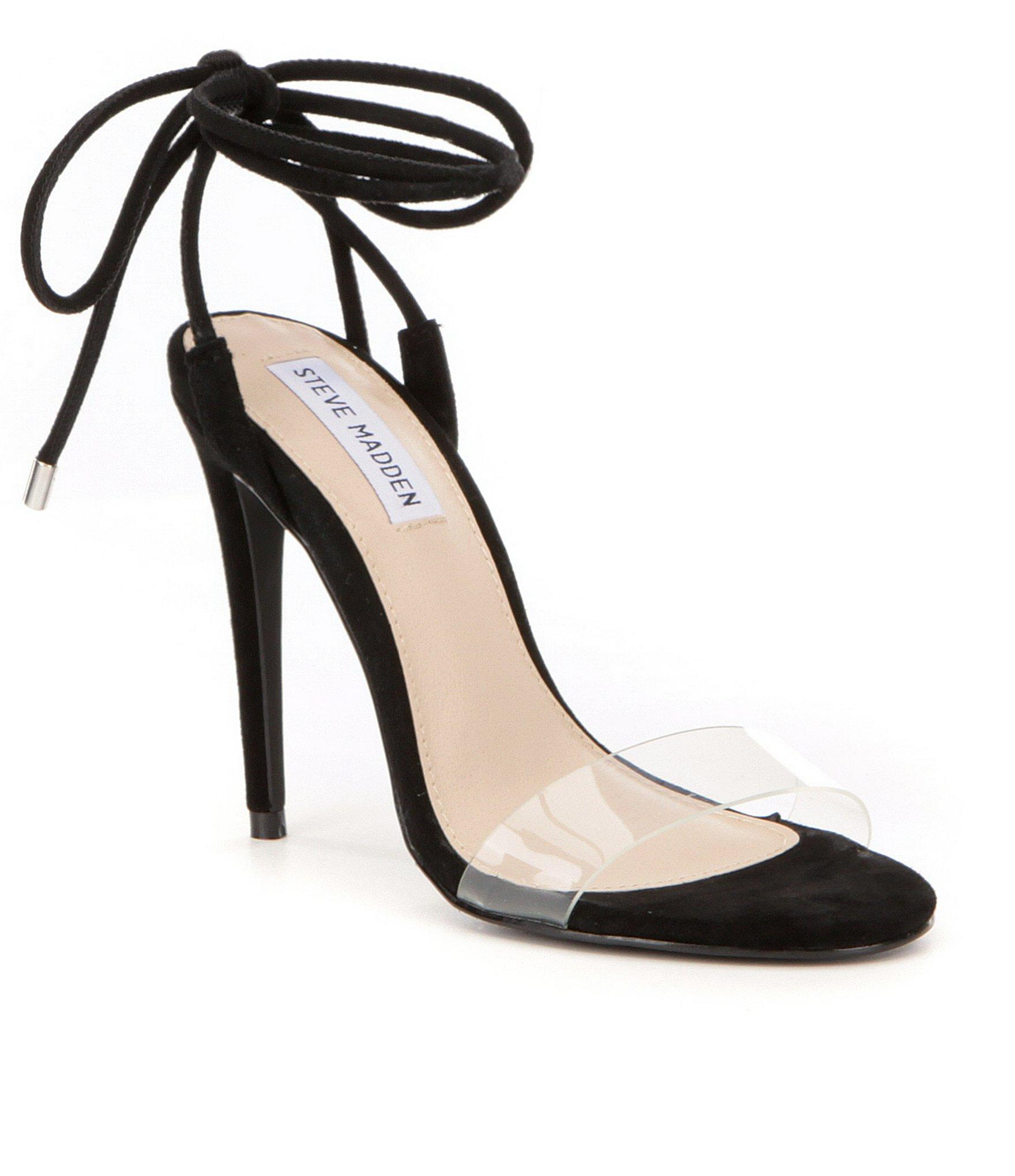 a4efceeebcb Steve Madden Black Lyla Ankle Tie Dress Sandals