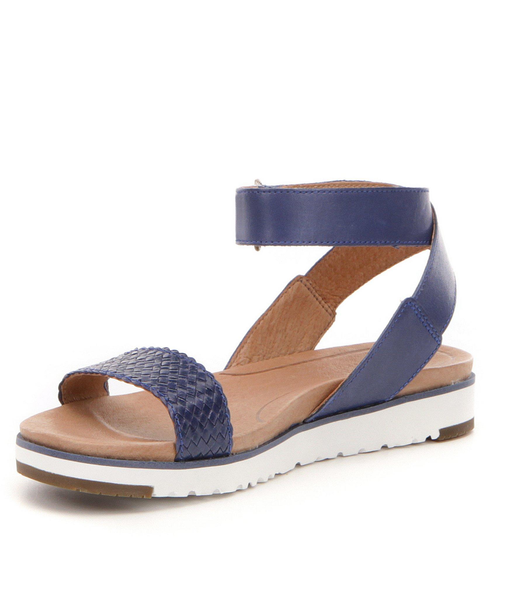 e19a108e454 Ugg Blue ® Laddie Leather Sandals