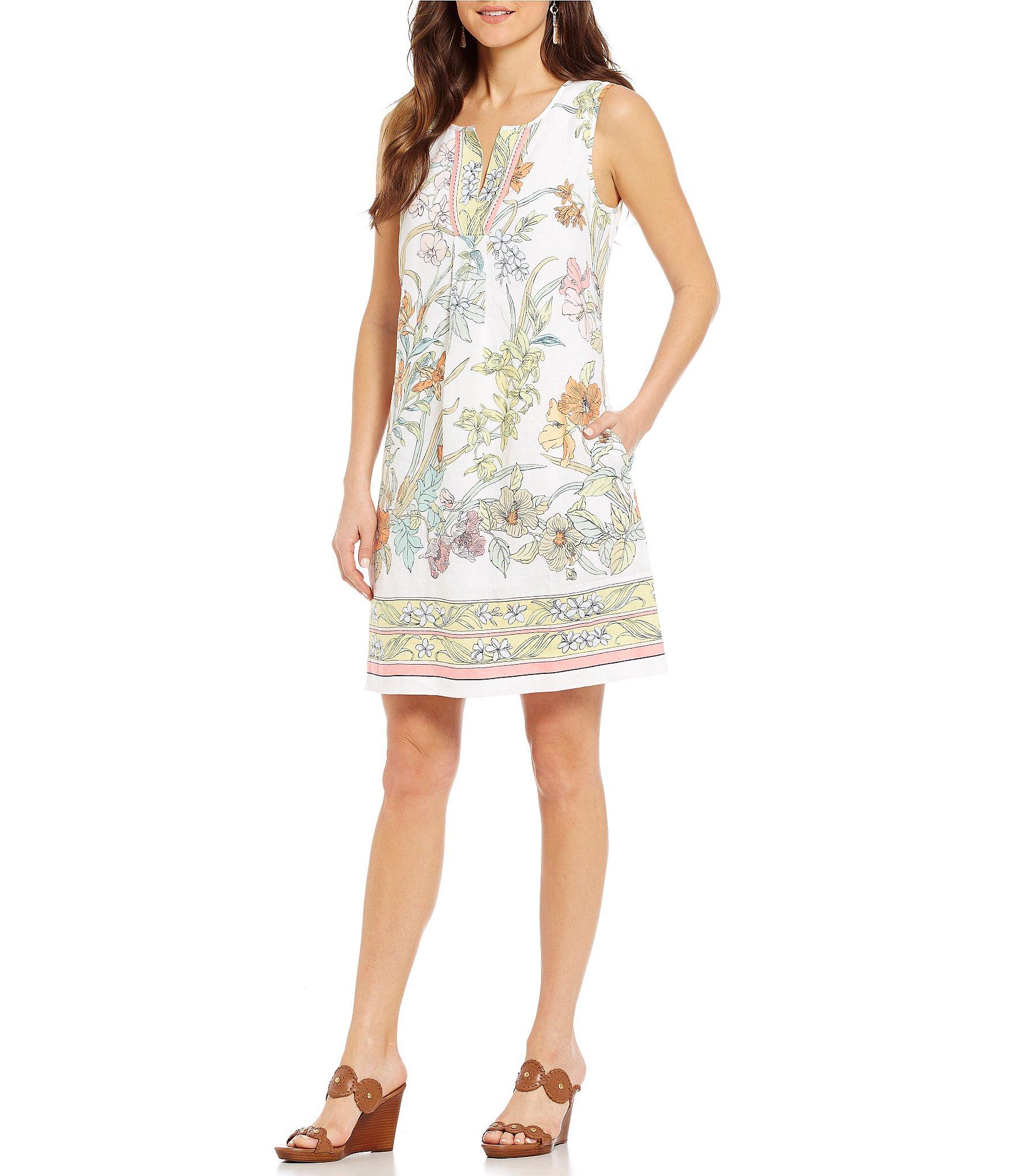 Lyst Tommy Bahama Paint By Rumba Fit Amp Flare Dress In White