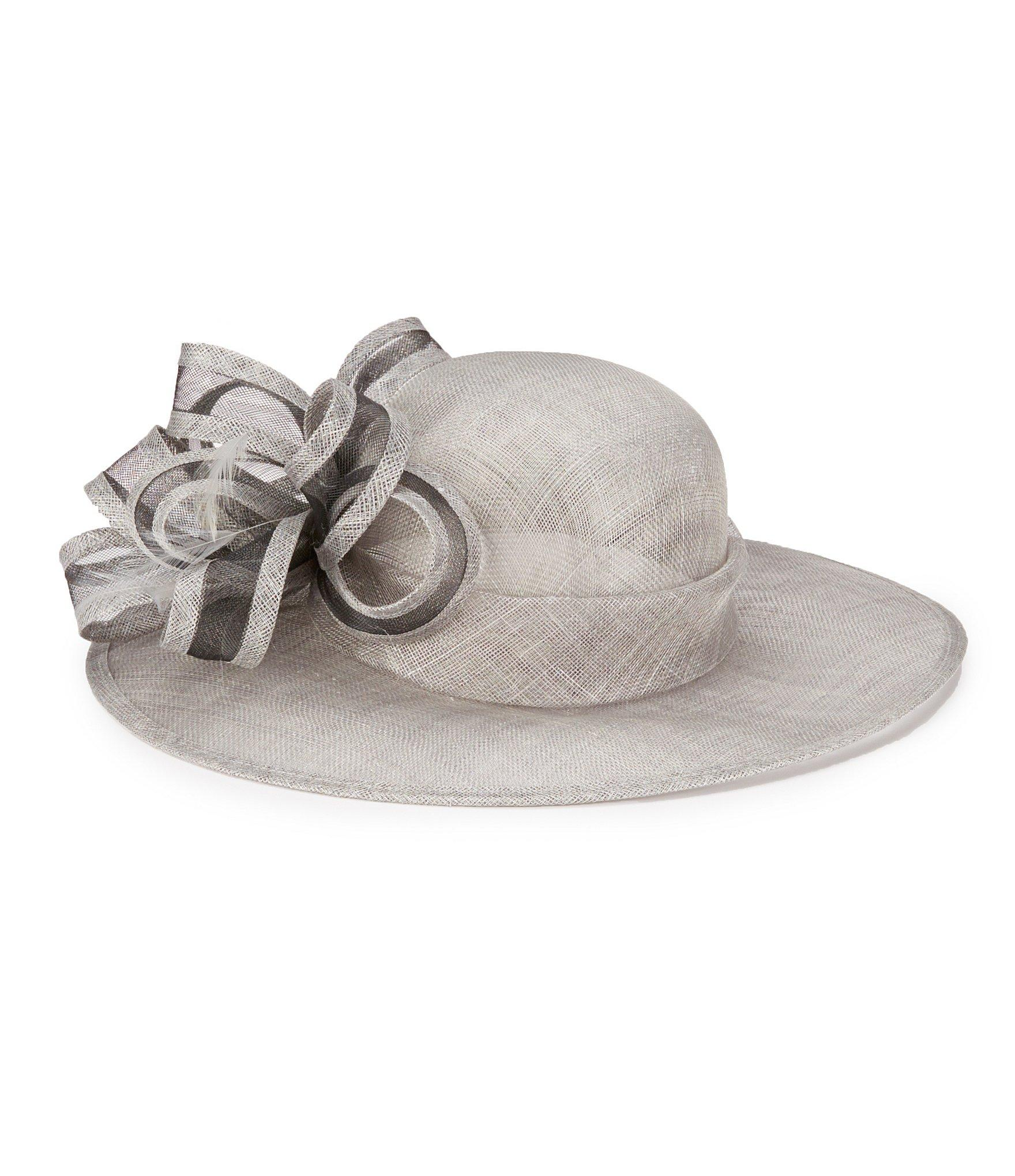 august accessories gardenia sinamay dress hat in gray lyst