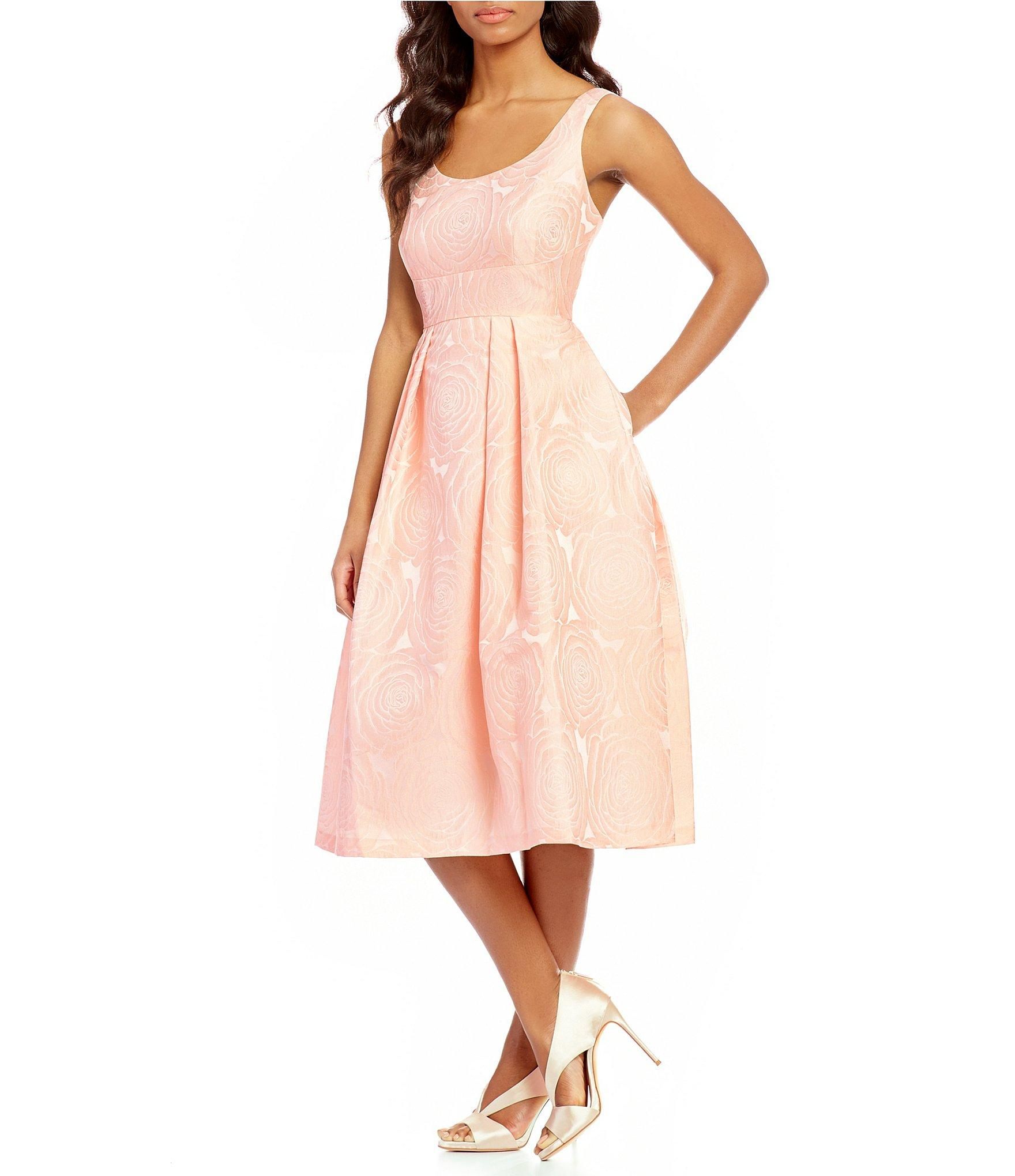 Ivanka trump Rose Jacquard Fit-and-flare Dress in Pink   Lyst