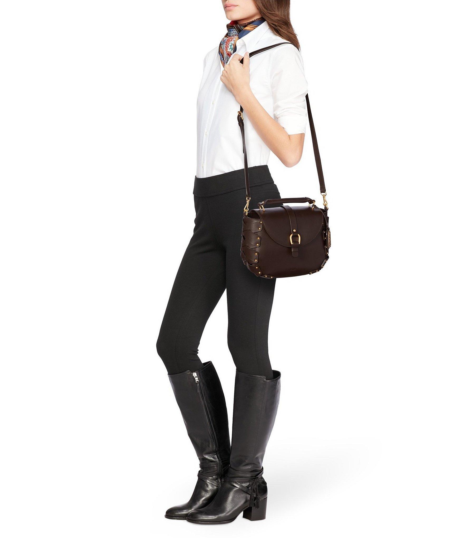 6075c86bbc92 Lyst - Lauren by Ralph Lauren Ludwick Collection Viana Saddle Bag in ...