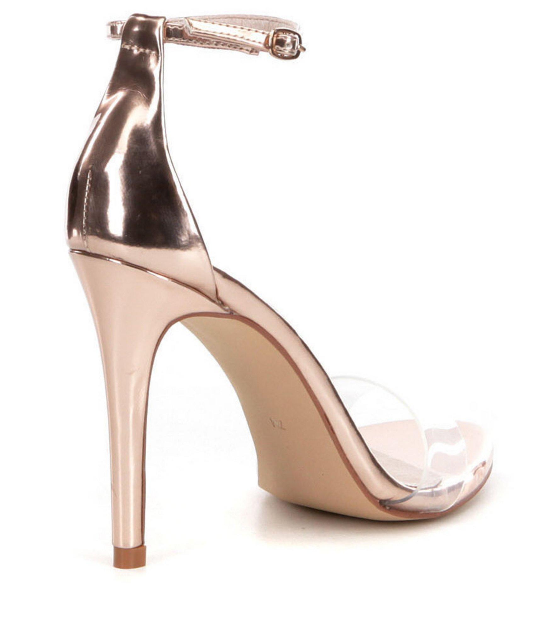8715a1da1e9 Steve Madden Multicolor Stecy-c Ankle Strap Lucite Dress Sandals