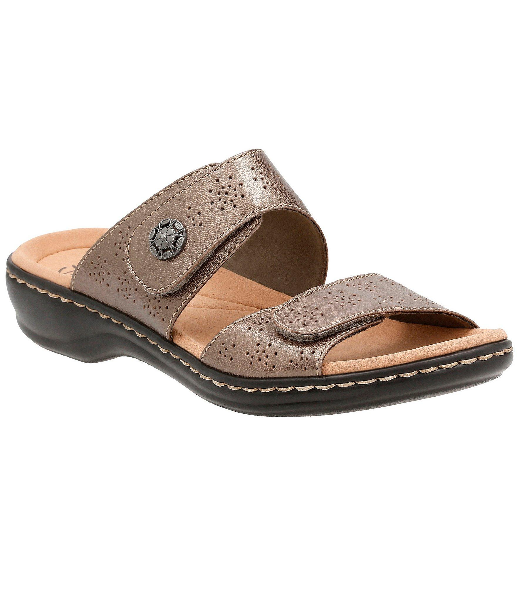 c400d76dbfc Lyst - Clarks Leisa Lacole Perforated Slide Sandals