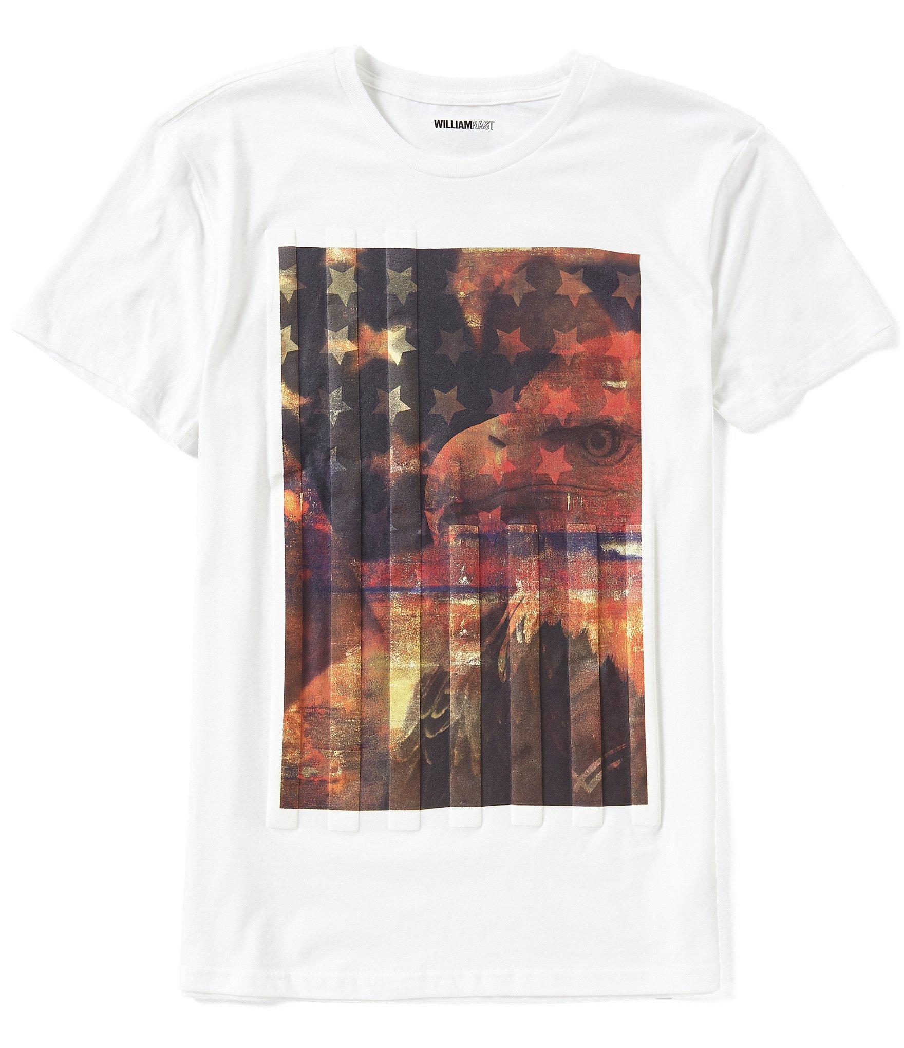 Lyst William Rast United Eagle Americana Short Sleeve