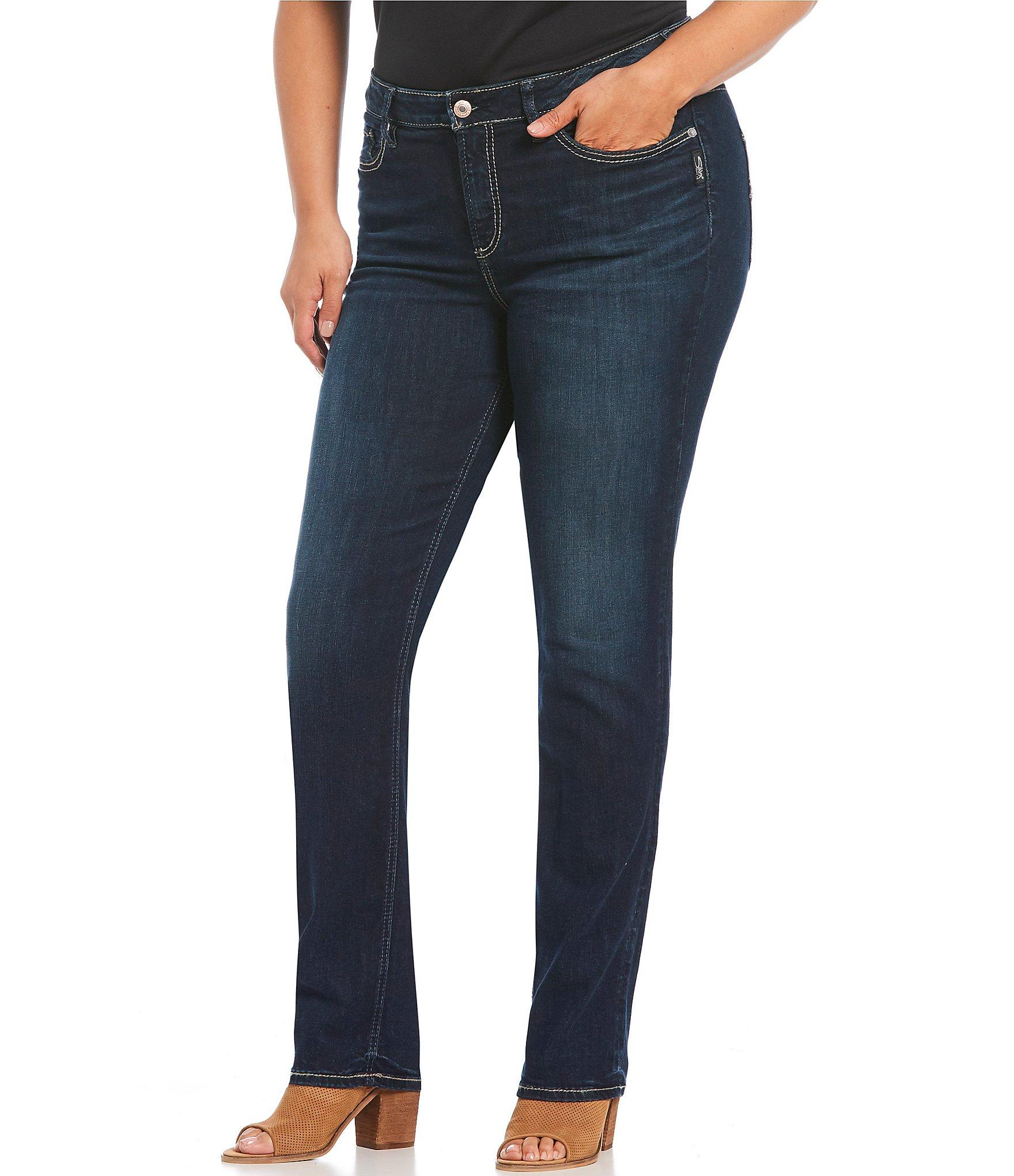 f3847138 Lyst - Silver Jeans Co. Plus Size Avery Curvy High-rise Straight ...