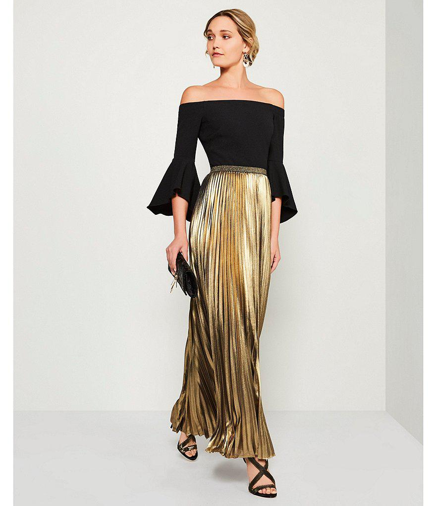 a26888a2f2959 Gallery. Previously sold at  Dillard s · Women s Metallic Skirts Women s Eliza  J Maxi ...