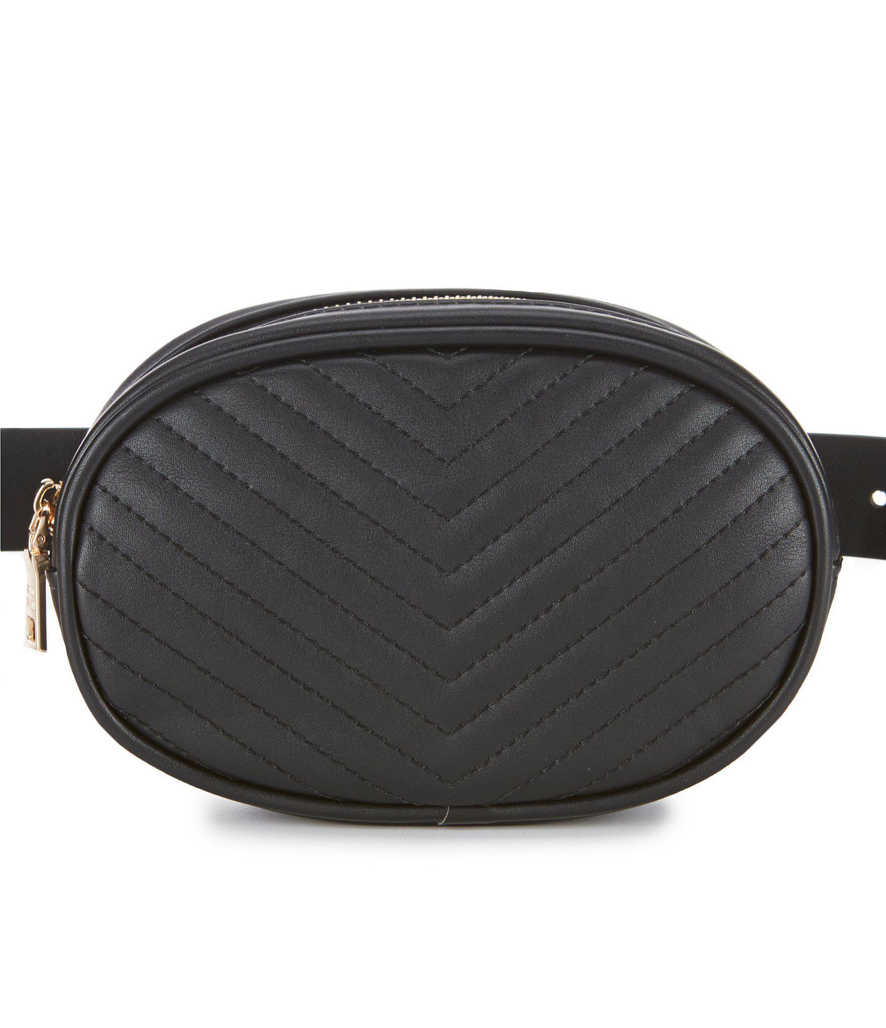 14979122e577 Steve Madden - Black Quilted Belt Bag - Lyst. View fullscreen