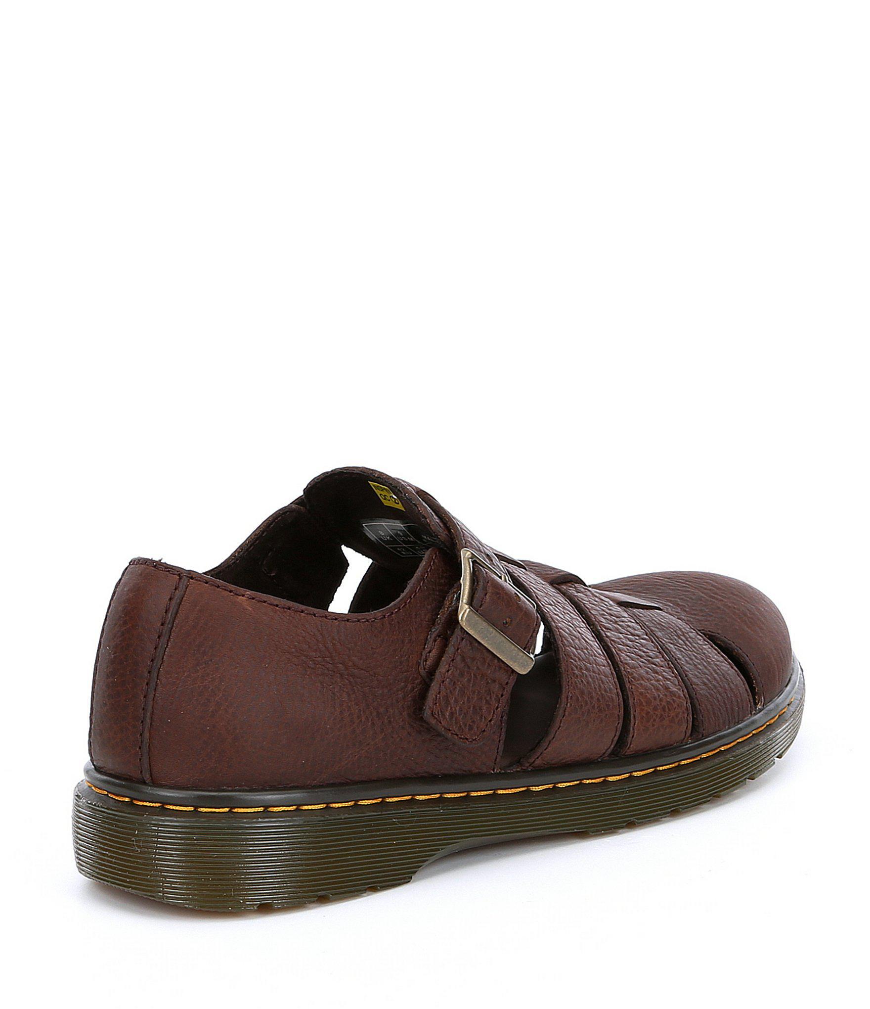b6095aa9ed7 Dr. Martens Brown Men's Fenton Fisherman Sandals for men