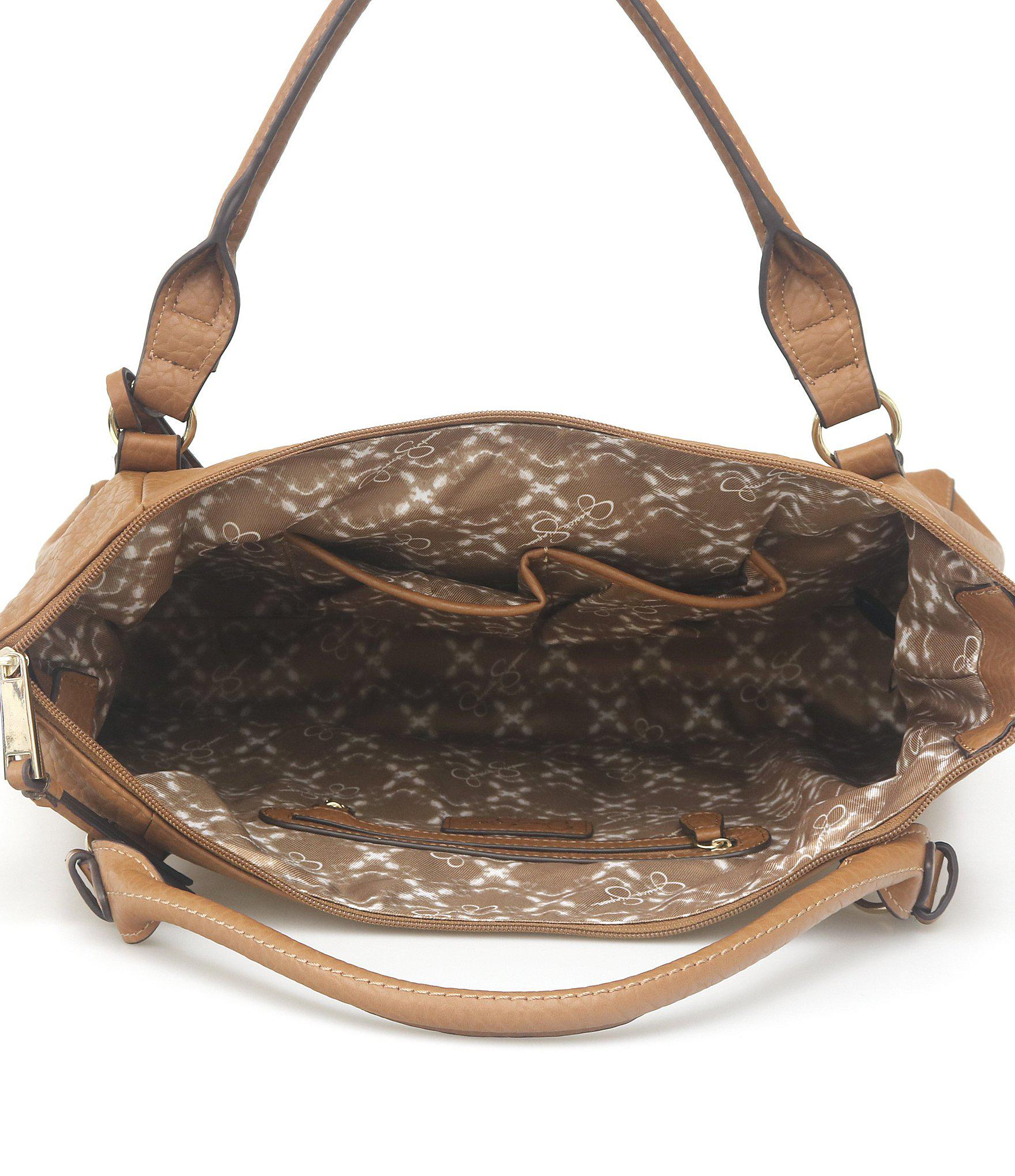58655ae8905 Jessica Simpson Brown Everly Top Zip Tote