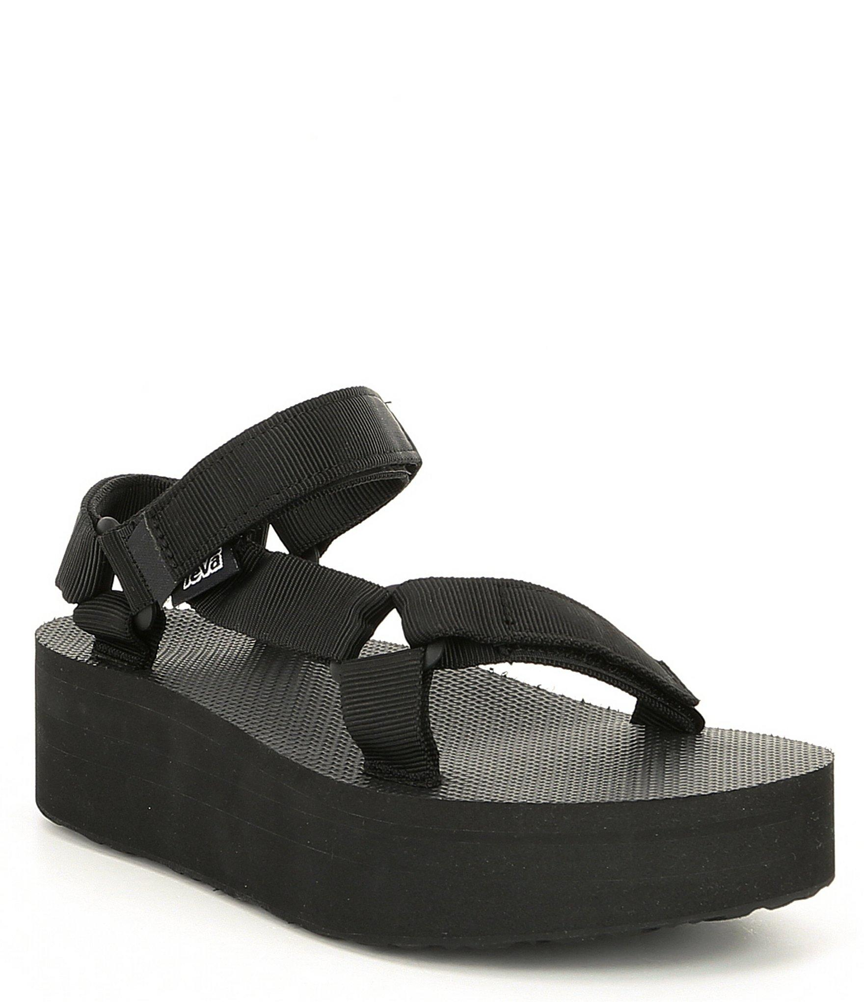 7434334b9ddc teva sandals platform Lyst - Teva Flatform Banded Platform Wedge Universal  Sandal in Black