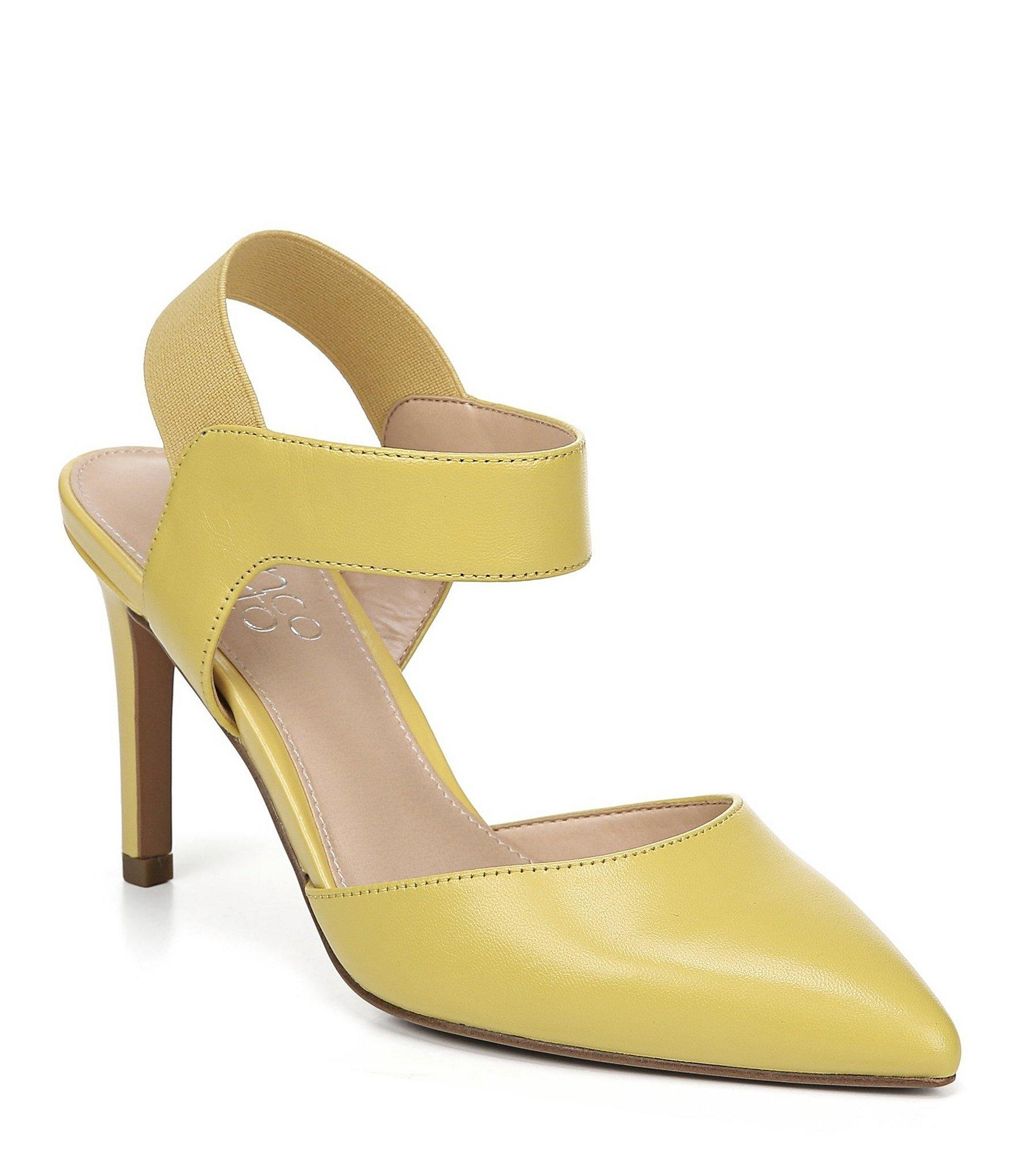 7e64858d5 Lyst - Franco Sarto Lima Leather D'orsay Pumps in Yellow