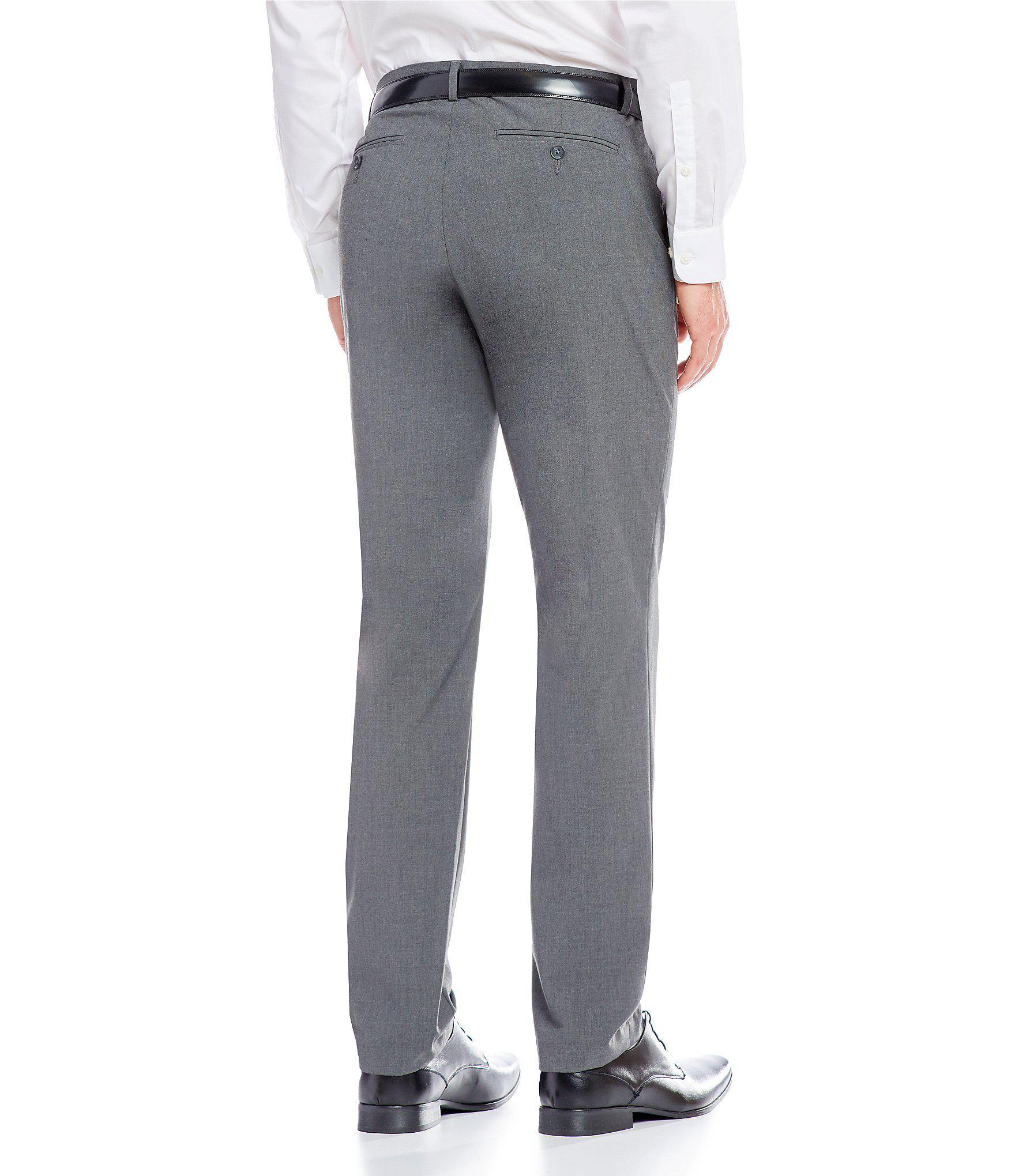 a10018693970 Calvin Klein - Gray Slim-fit End-on-end Bi-stretch Flat. View fullscreen