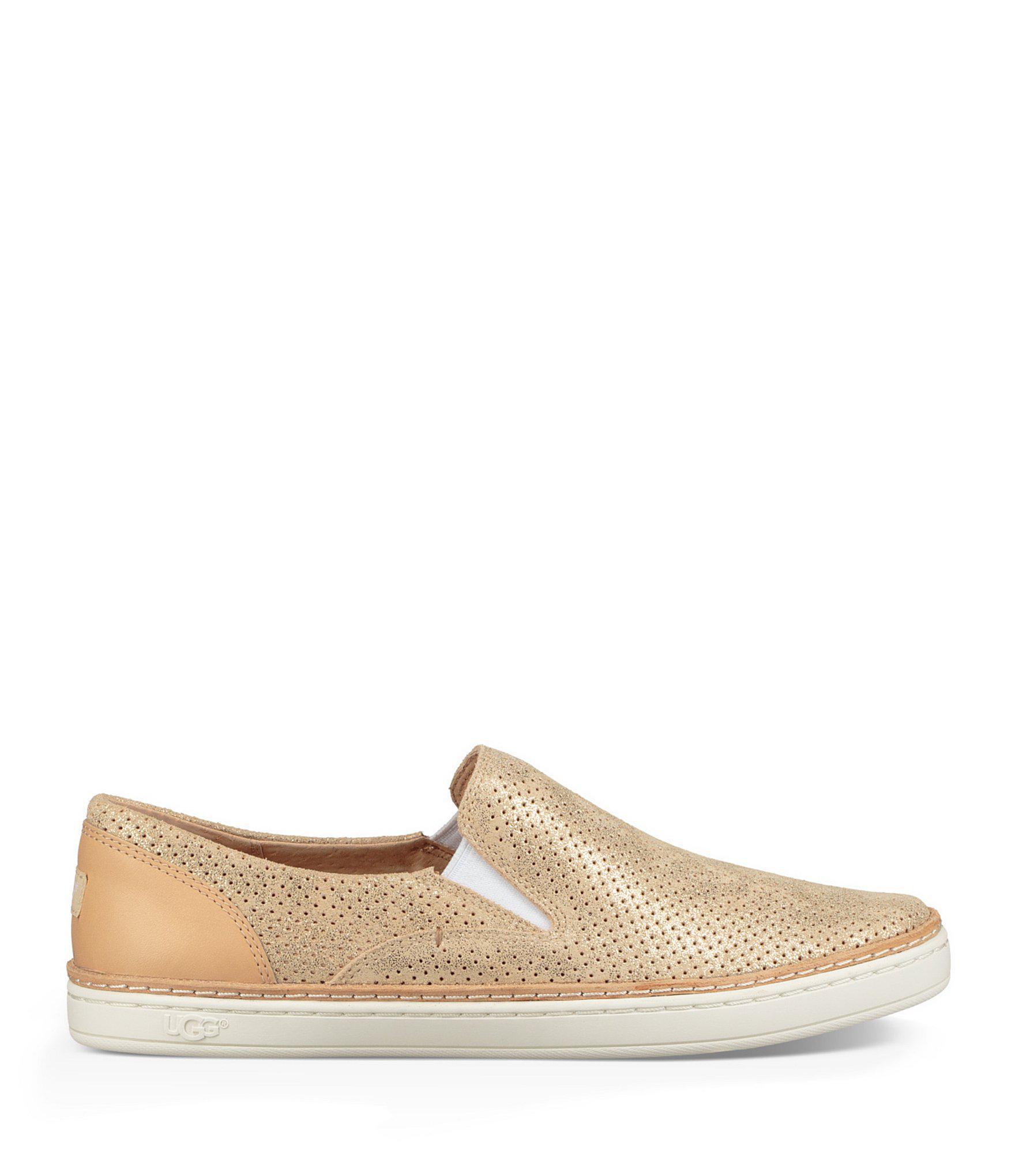 d705c10a029 Ugg - Adley Perf Stardust Metallic Suede Sneakers - Lyst