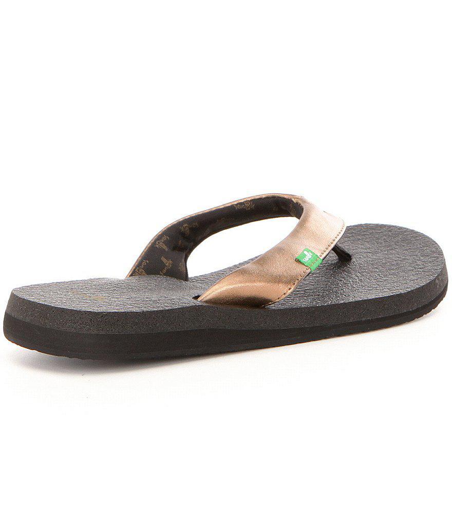Sanuk Yoga Mat Flip Flop Sandals In Black - Lyst-5721