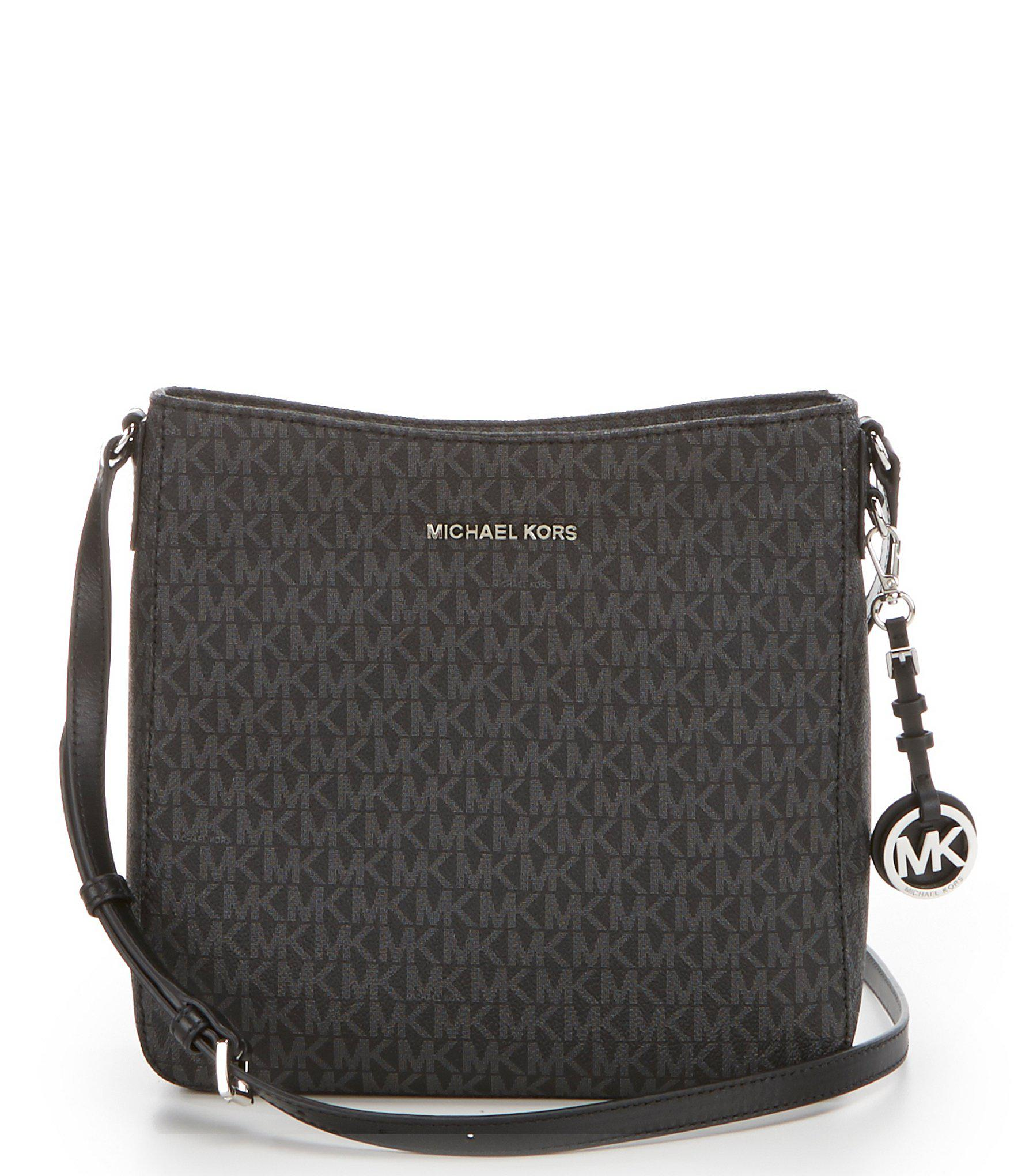 3730d5ad44e Lyst - MICHAEL Michael Kors Signature Small Cross-body Bag in Black