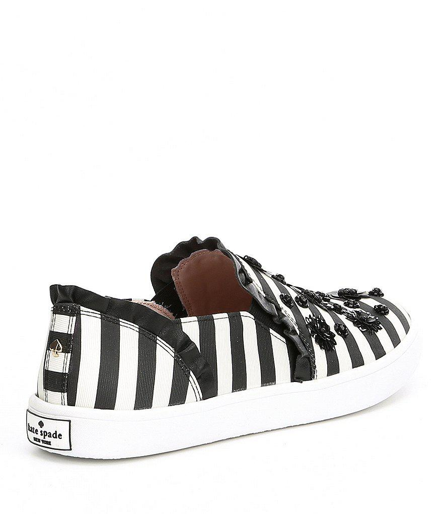 Louise Stripe Floral Embellishment Sneakers 5IwgSSk