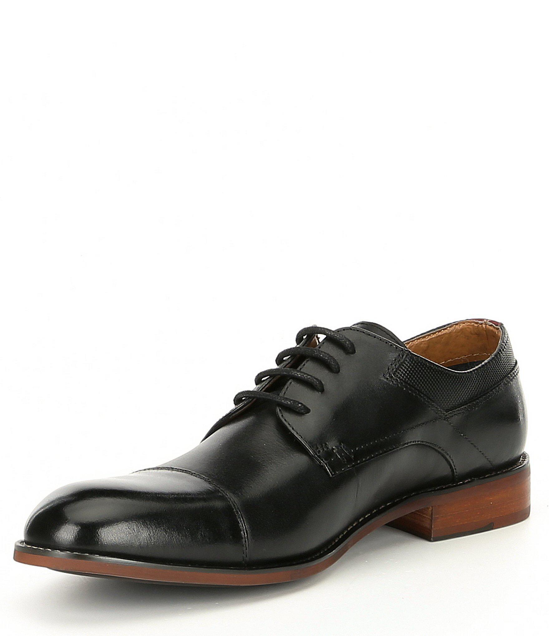 a3f194c26f8 Steve Madden - Black Men s Lorance Leather Cap Toe Oxford for Men - Lyst.  View fullscreen