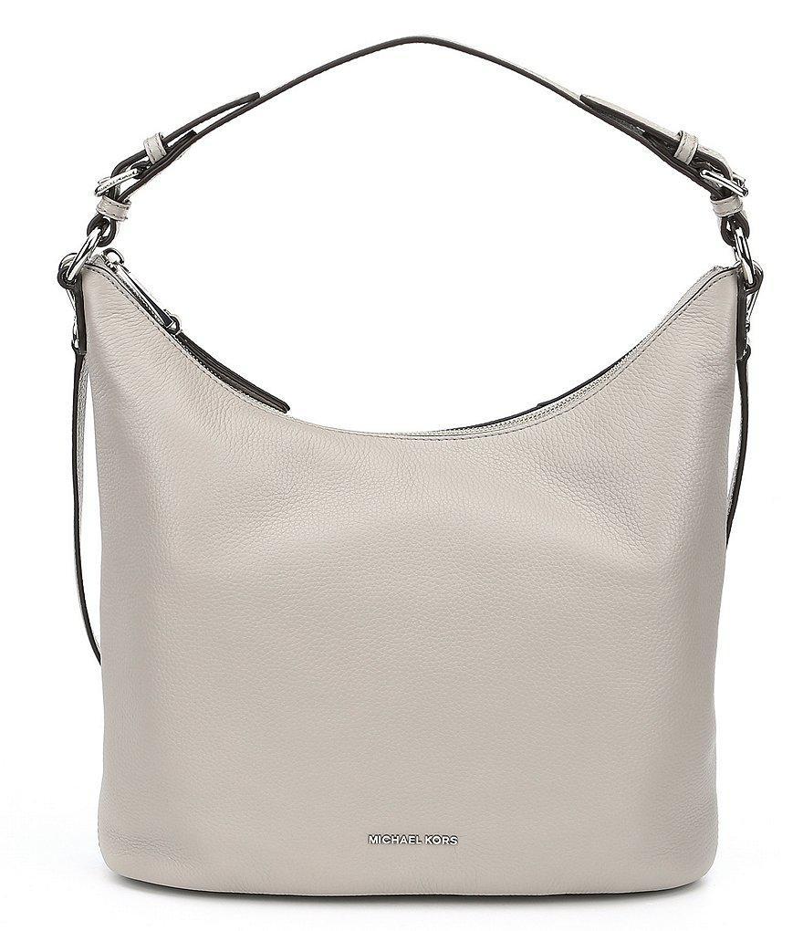 Lyst - MICHAEL Michael Kors Lupita Large Hobo Bag in Gray 7f19db77cc