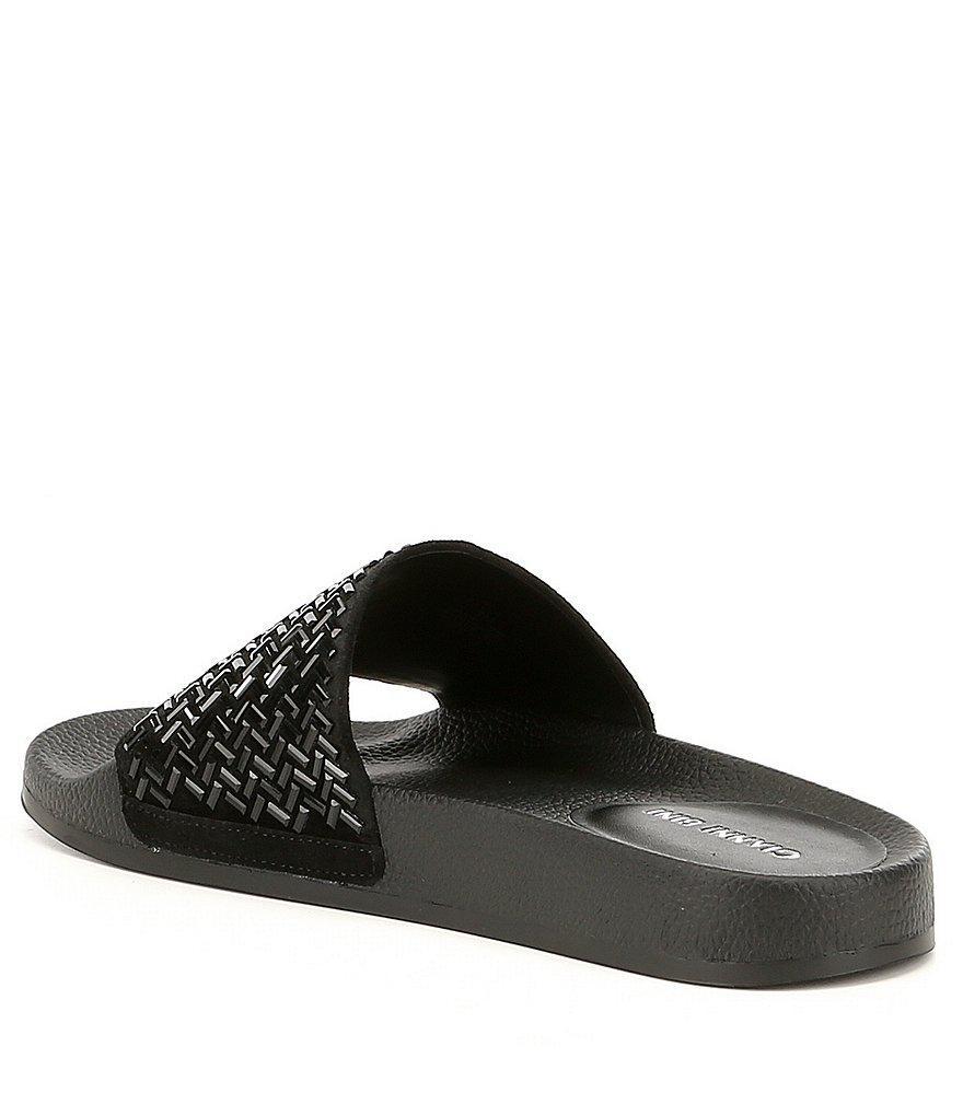Gianni Bini Gemellatwo Jeweled Suede Pool Slide Sandals 6XuPWyL6tW