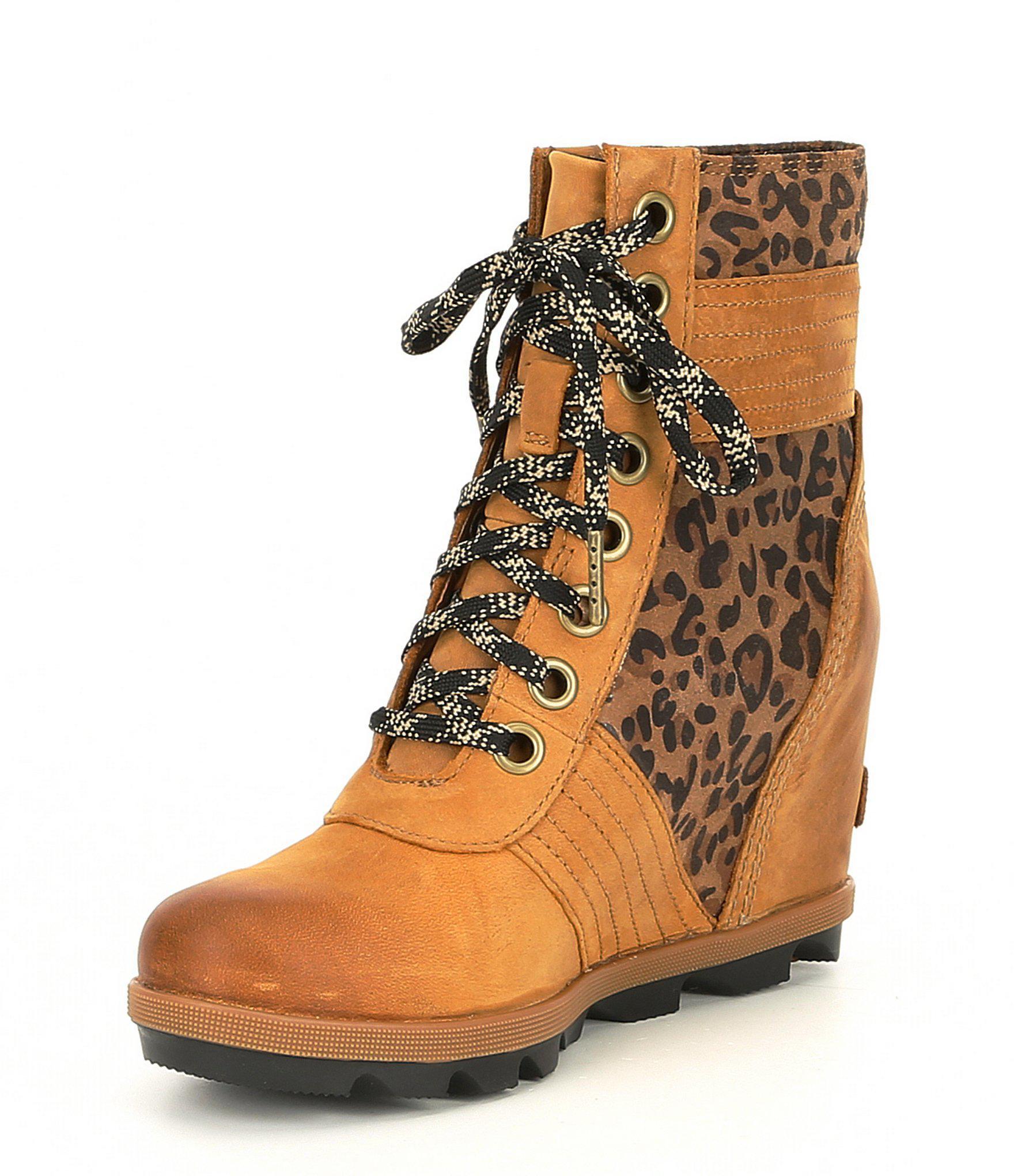 sorel leopard print boots good de780 69952