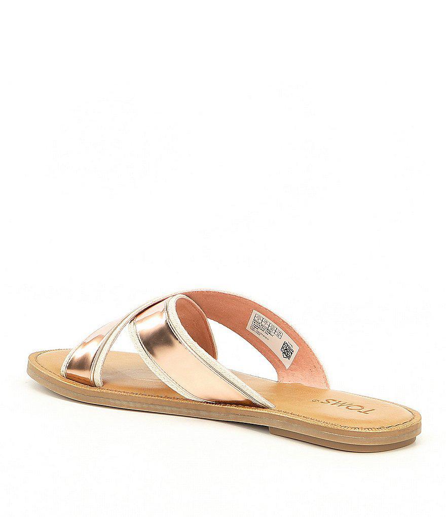 Viv Metallic Slide Sandals DaddvIF
