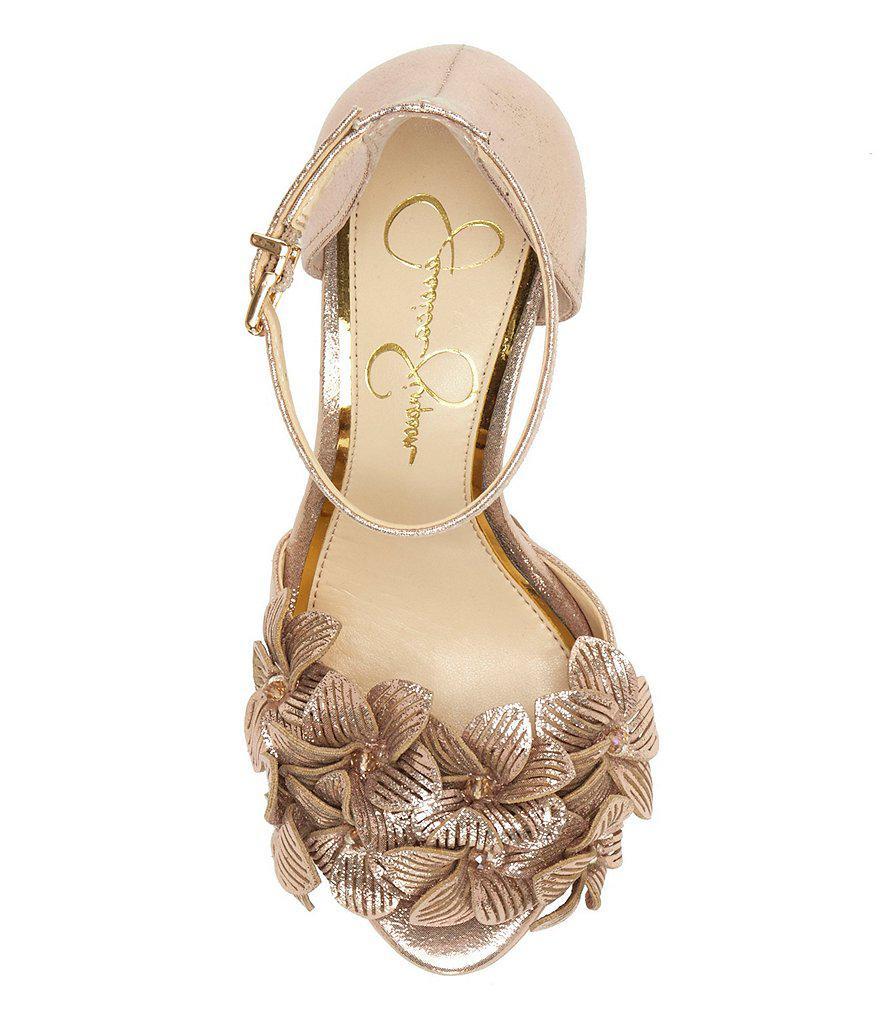 0390601dd10 Lyst - Jessica Simpson Mayfaran Platform Dress Sandals in Black