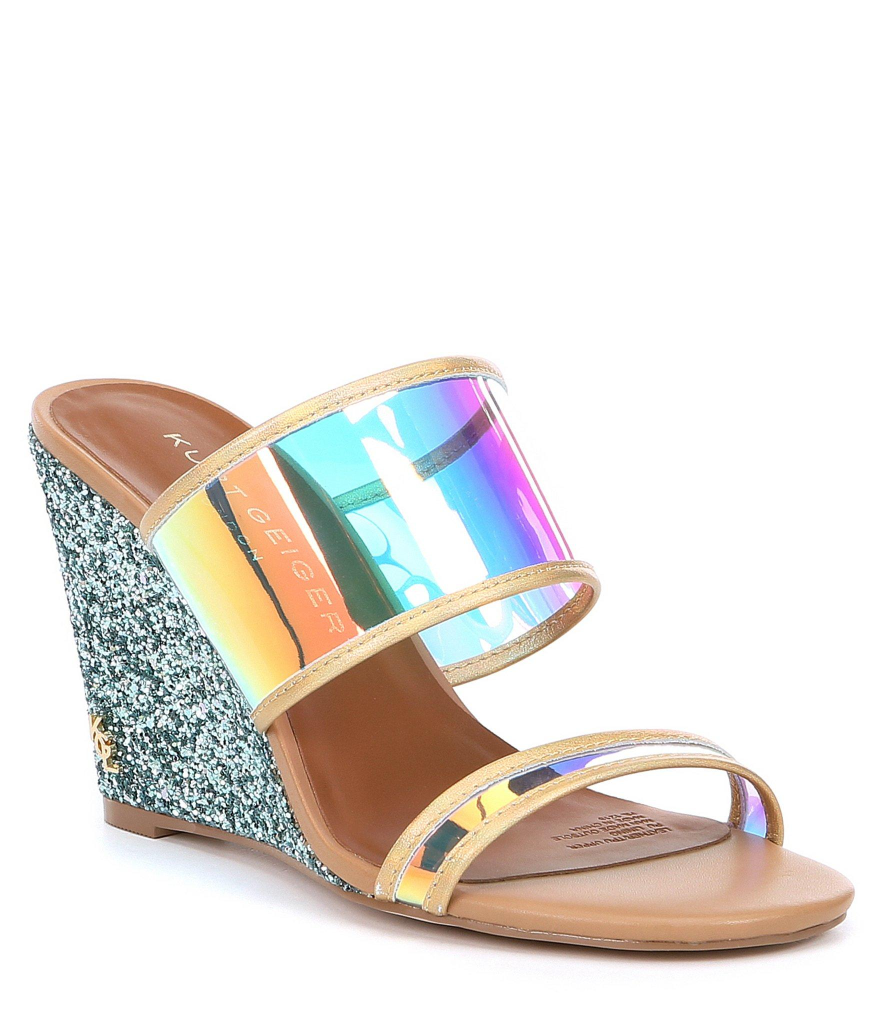 028ce7d4dbc Blue Women's Charing Wedge Slide Sandals