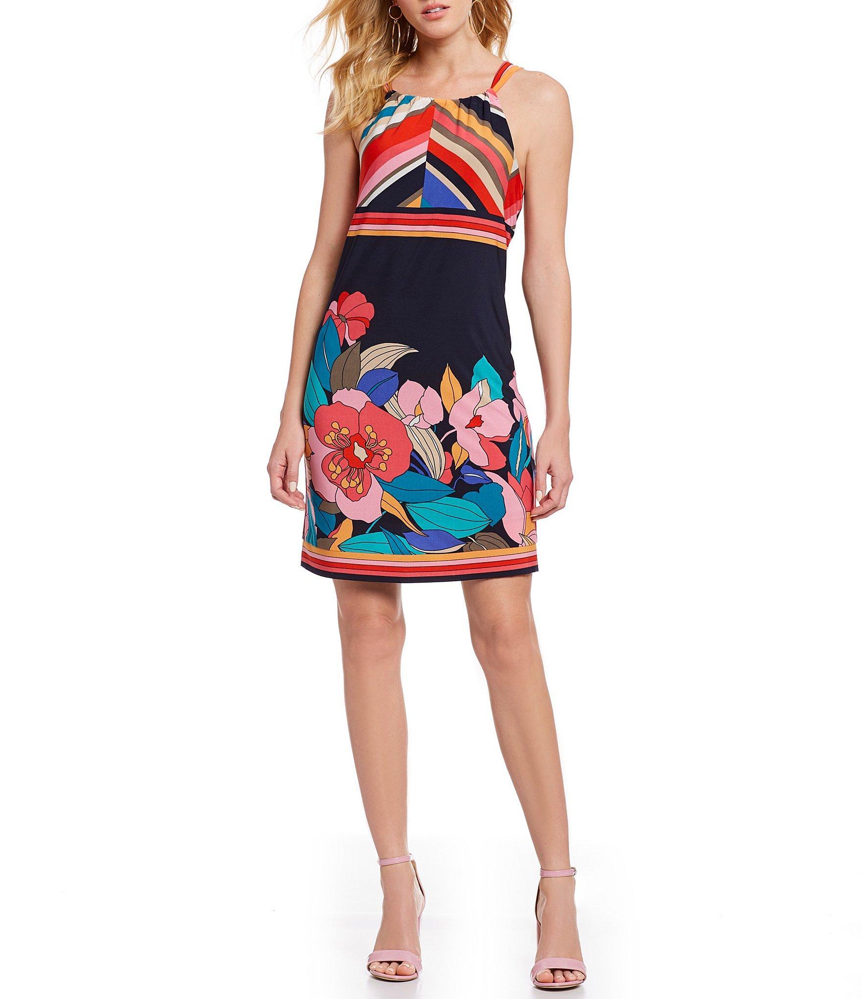 efeefbf1b52 Trina Turk. Women s Mixed Print Halter Dress