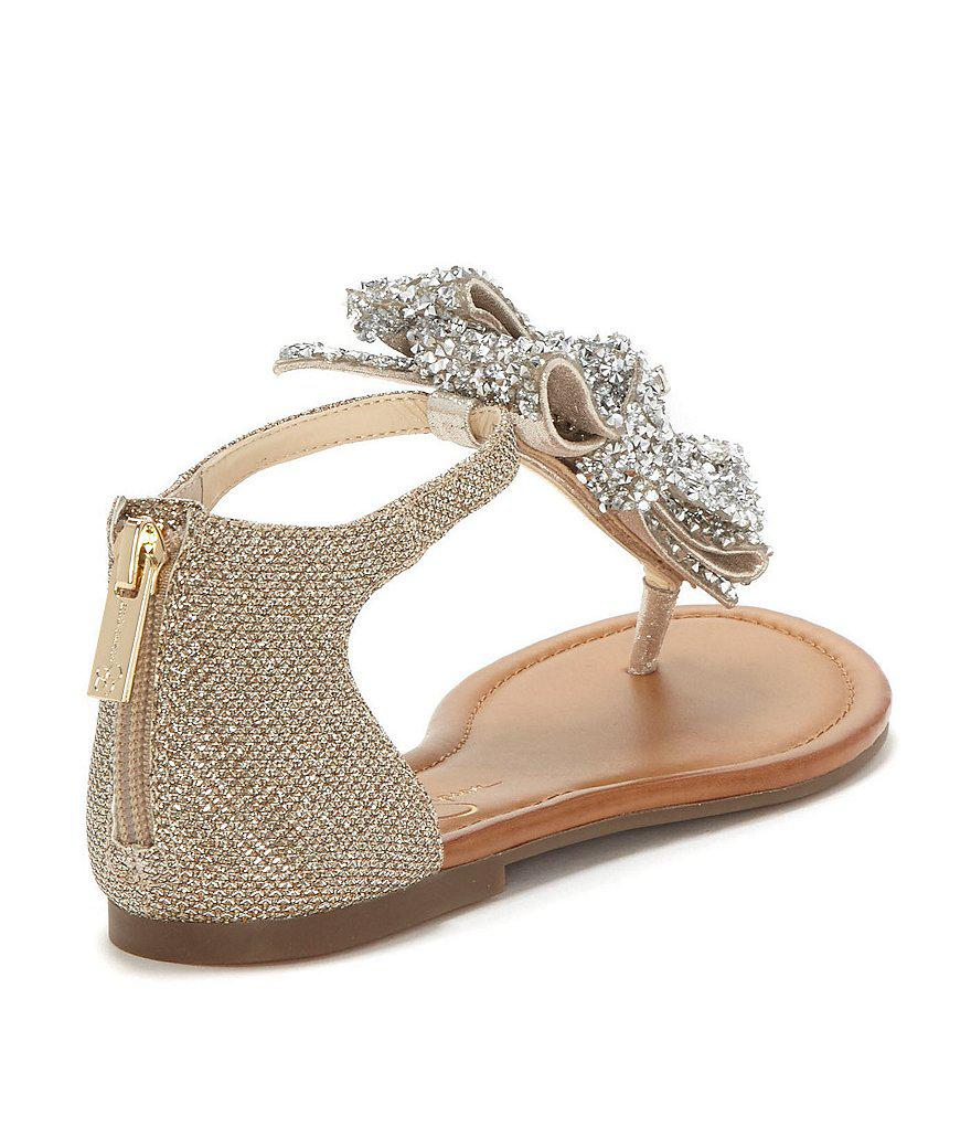 Jessica Simpson Kellise Rhinestone Bow Sandals AliDq
