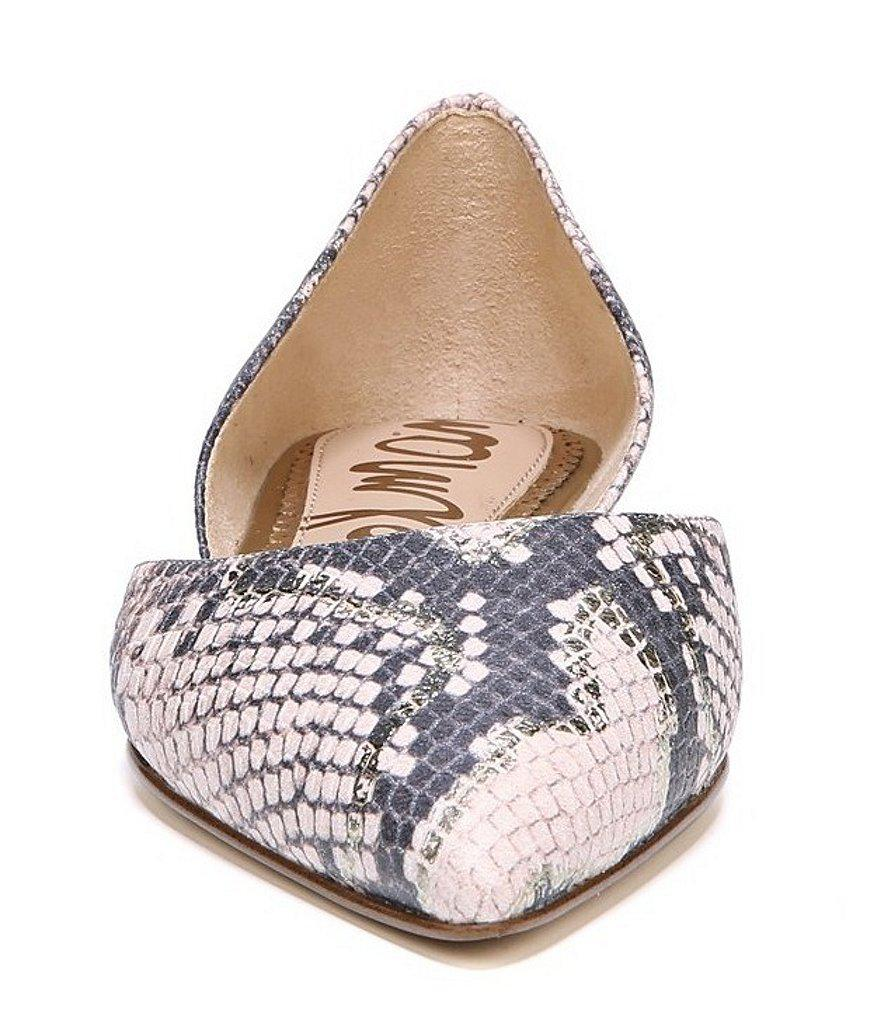 Rodney Leather Snake Print Flats Eslup7