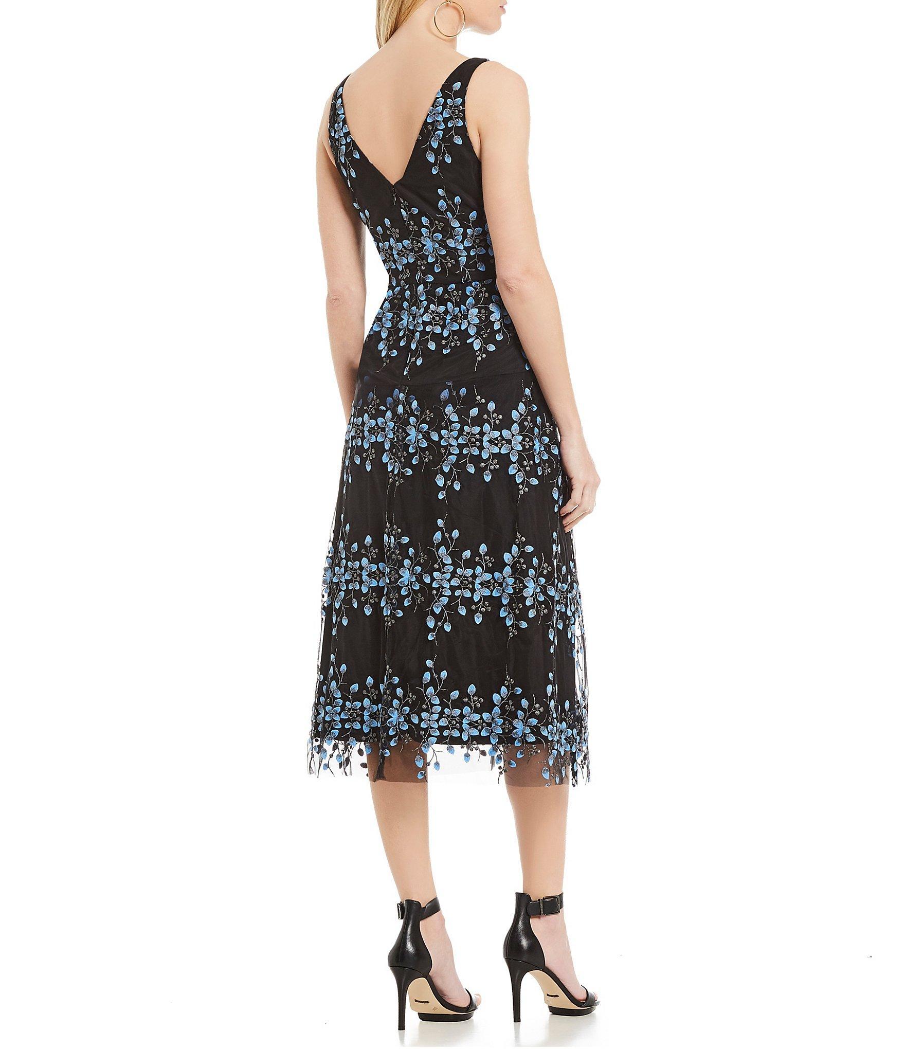 ccf3b98e25 Gianni Bini - Black Emily Embroidered Midi Dress - Lyst. View fullscreen