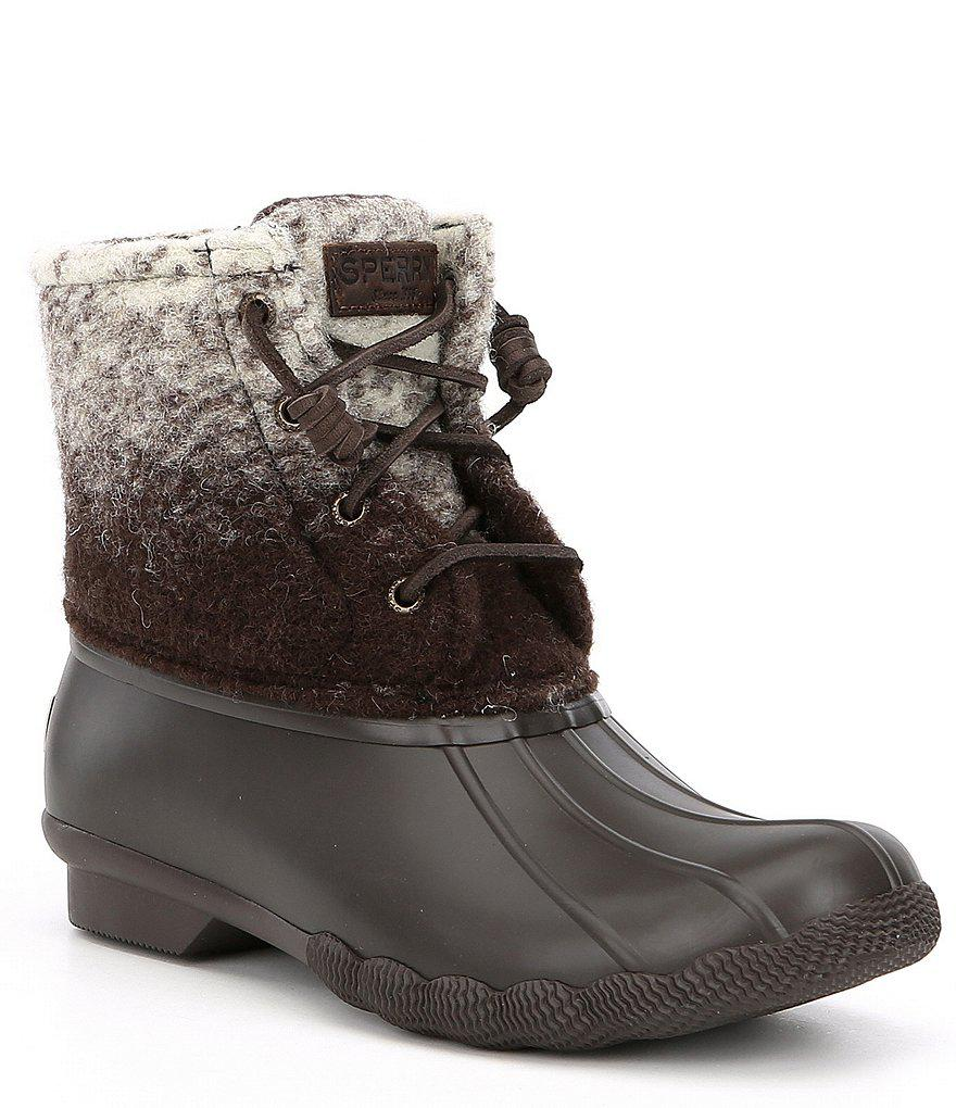 Saltwater Ombre Duck Boots in Brown