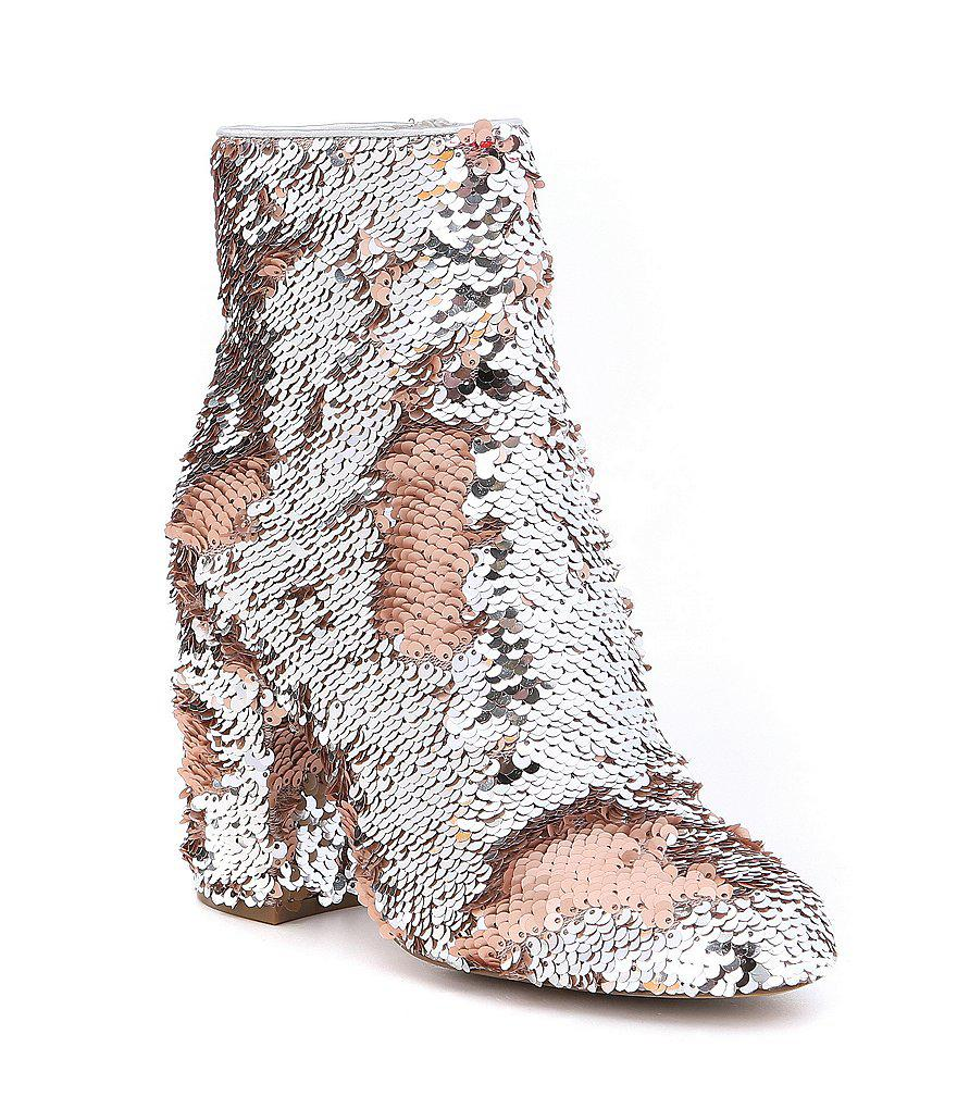 22bbcc3ad0a Steve Madden Metallic Georgia Sequin Booties