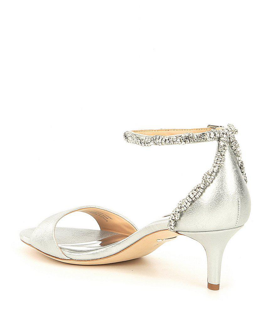 Yareli Rhinestone Jeweled Metallic Suede Dress Sandals vxYDdCA8f