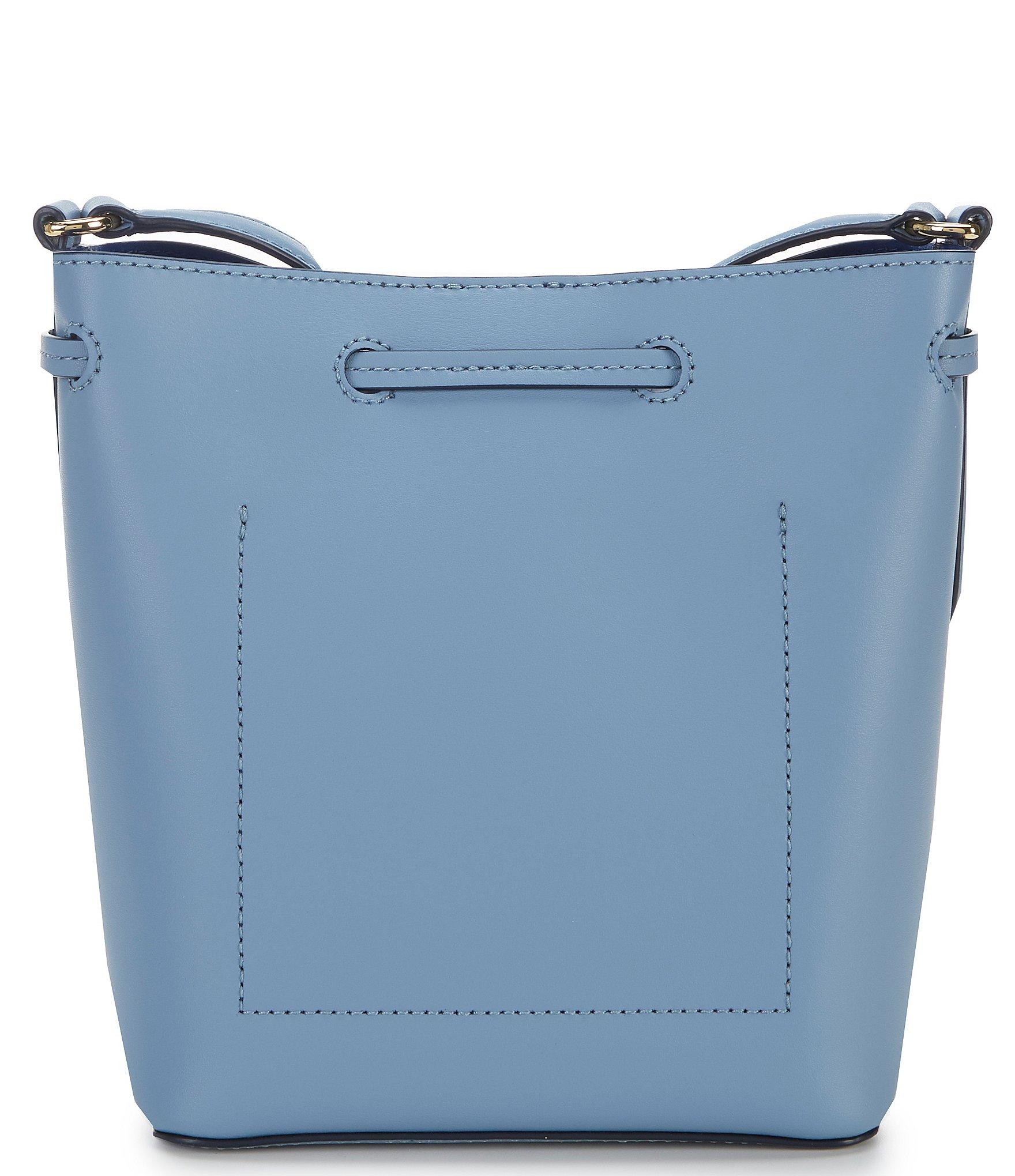 4a549e2681 Lauren by Ralph Lauren Debby Ii Mini Leather Drawstring Bag in Blue ...