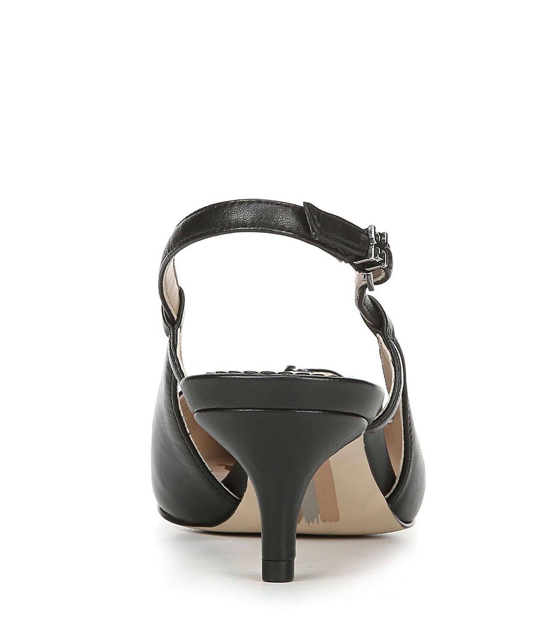 b5271cbe0f9 Women's Black Denia Leather Slingback Pumps