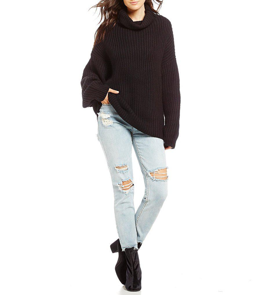 Lyst Free People Swim Too Deep Pullover Sweater In Black